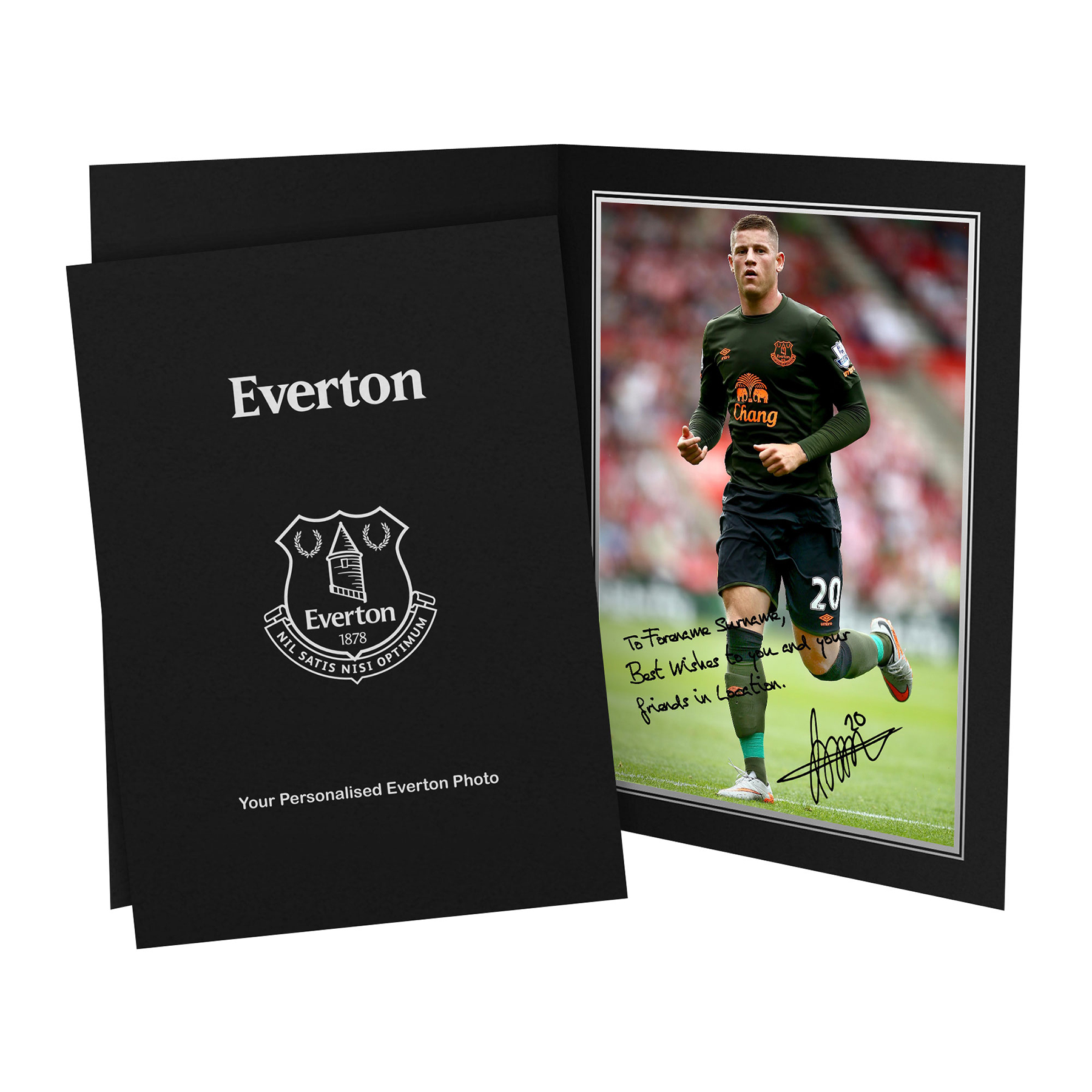Everton Personalised Signature Photo in Presentation Folder - Barkley