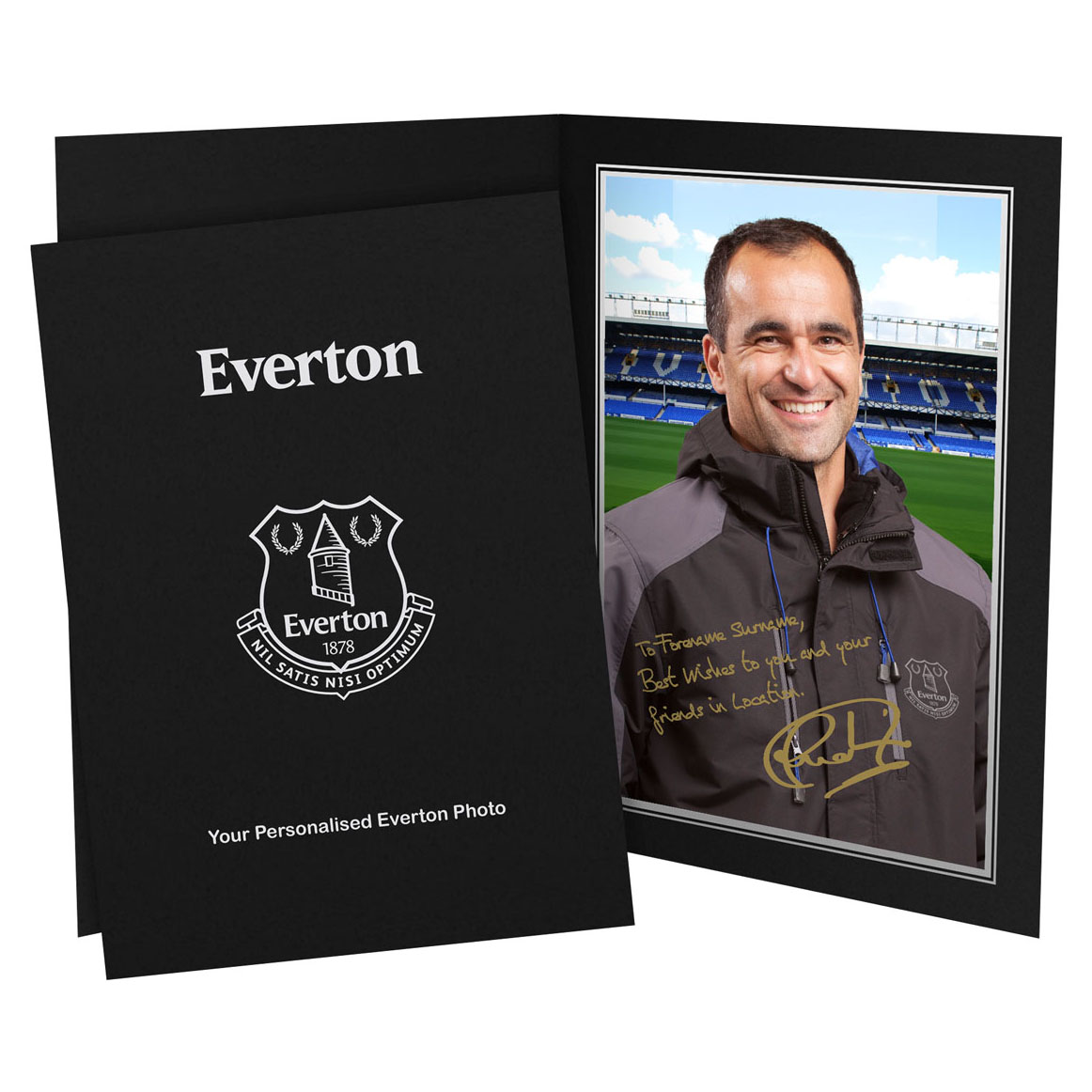 Everton Personalised Signature Photo in Presentation Folder - Martinez