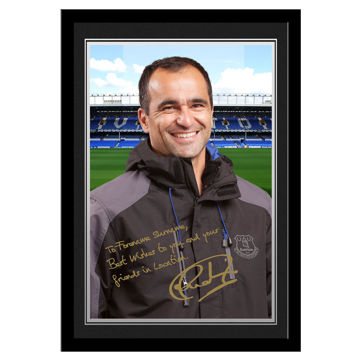 Everton Personalised Signature Photo Framed - Martinez