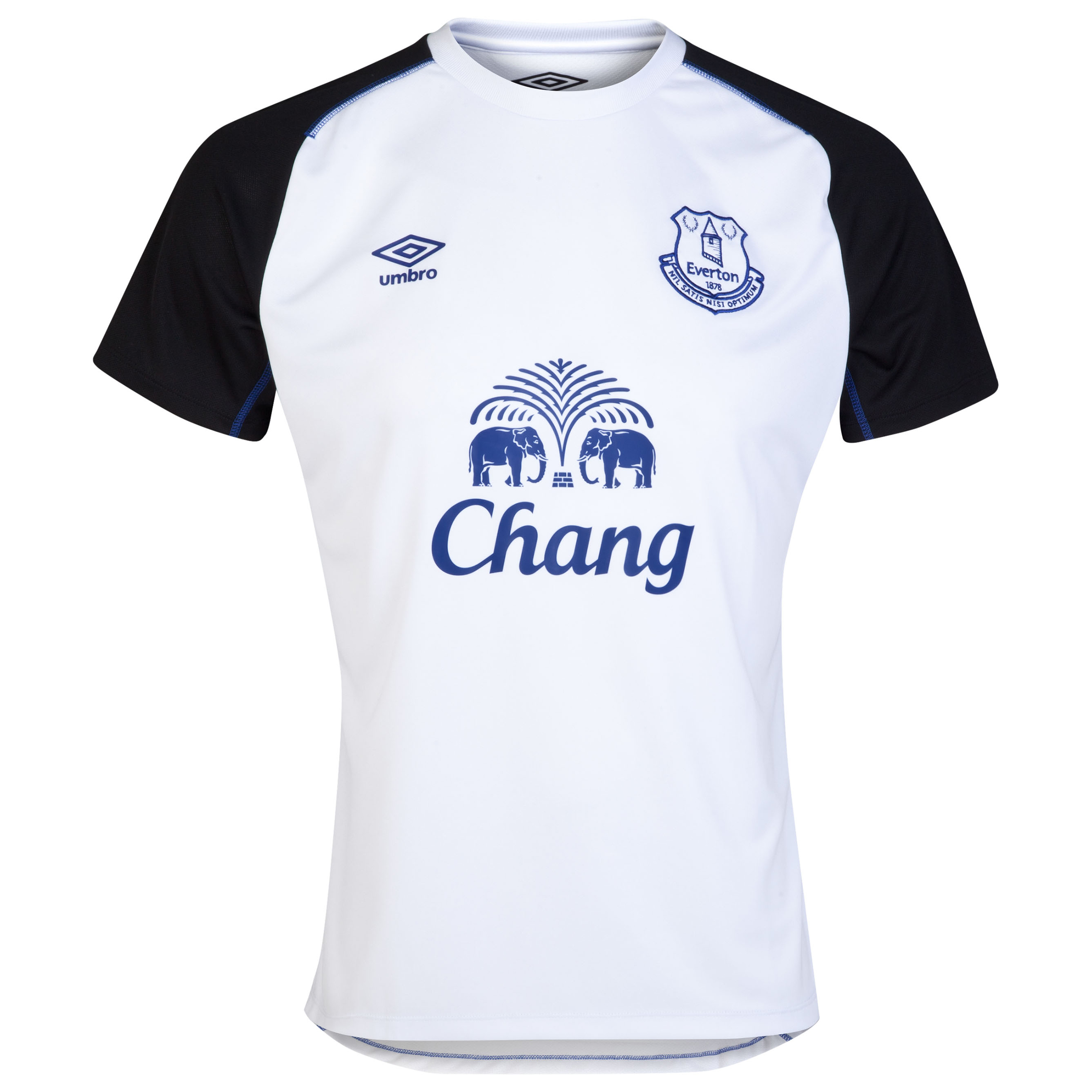 Everton Training Jersey-White/Black/Deep Surf