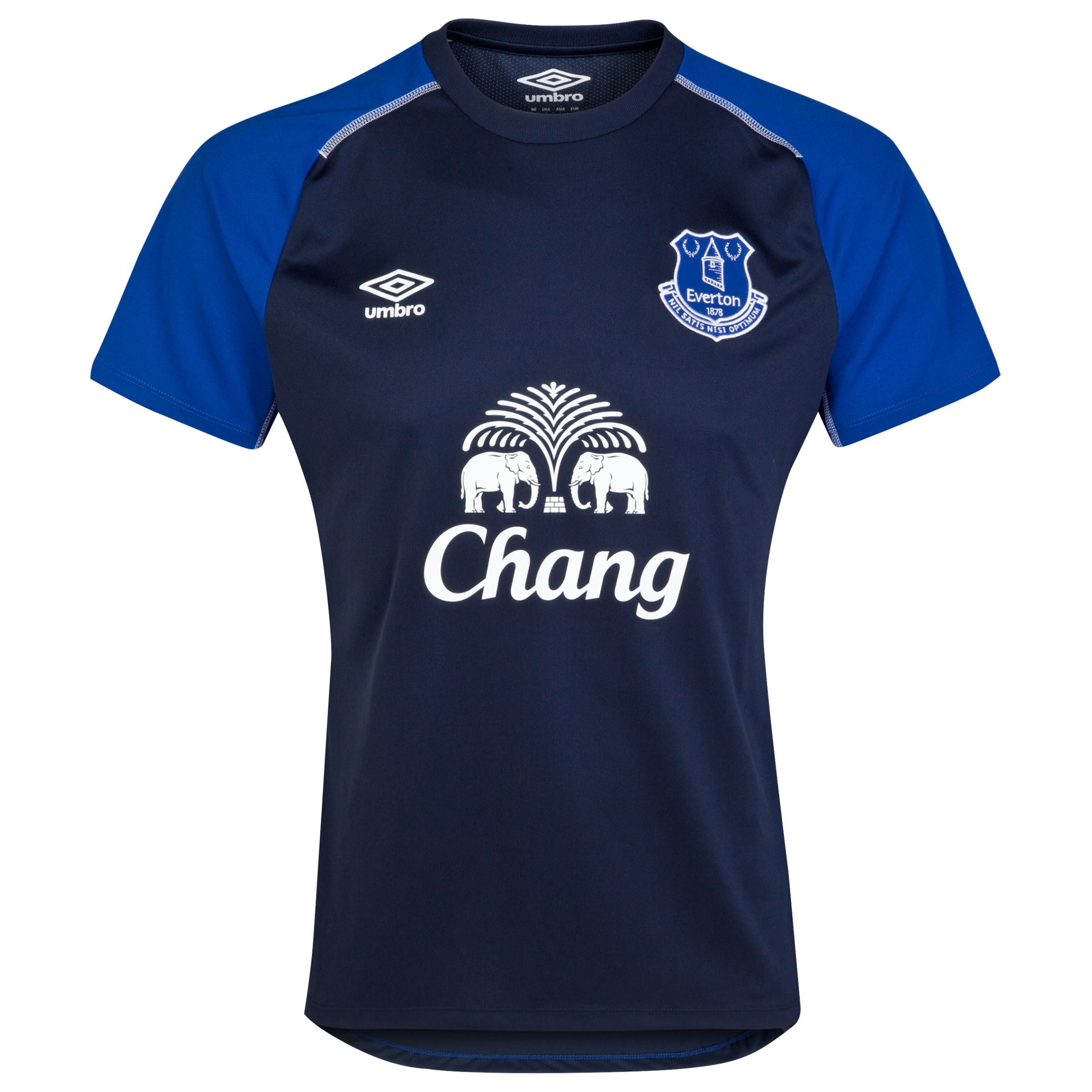 Everton Training Jersey-Dark Navy/Deep Surf