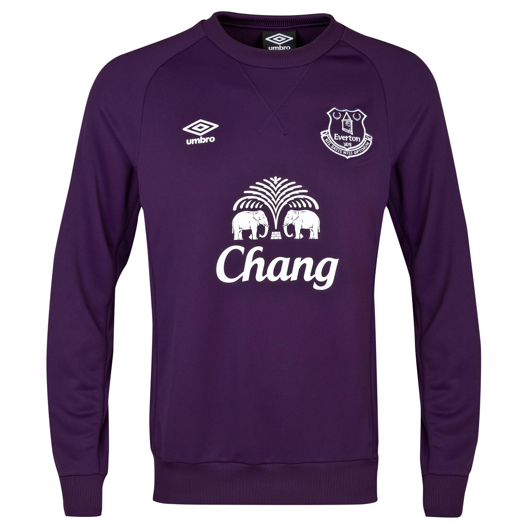 Everton Training Sweat Top-Blackberry Cordial