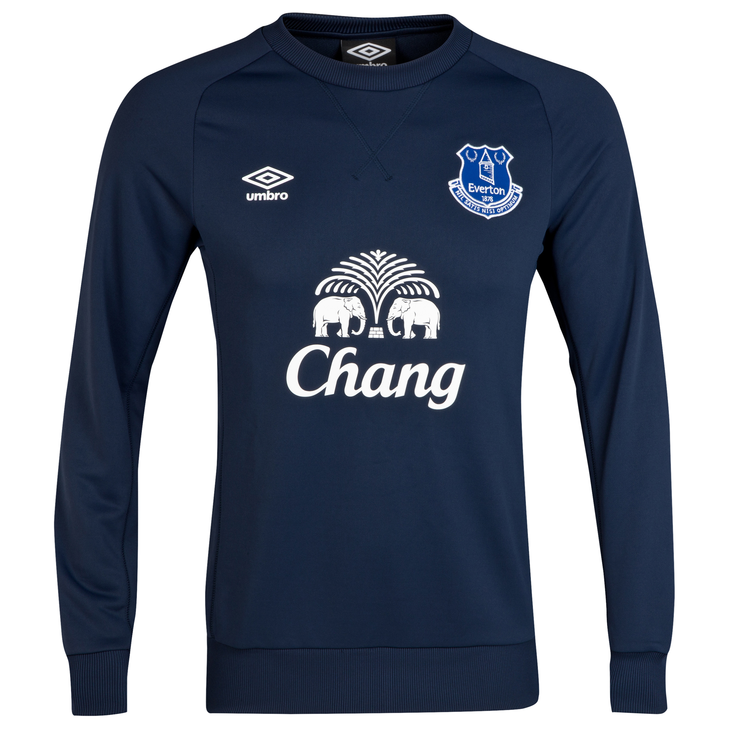 Everton Training Sweat Top-Dark Navy