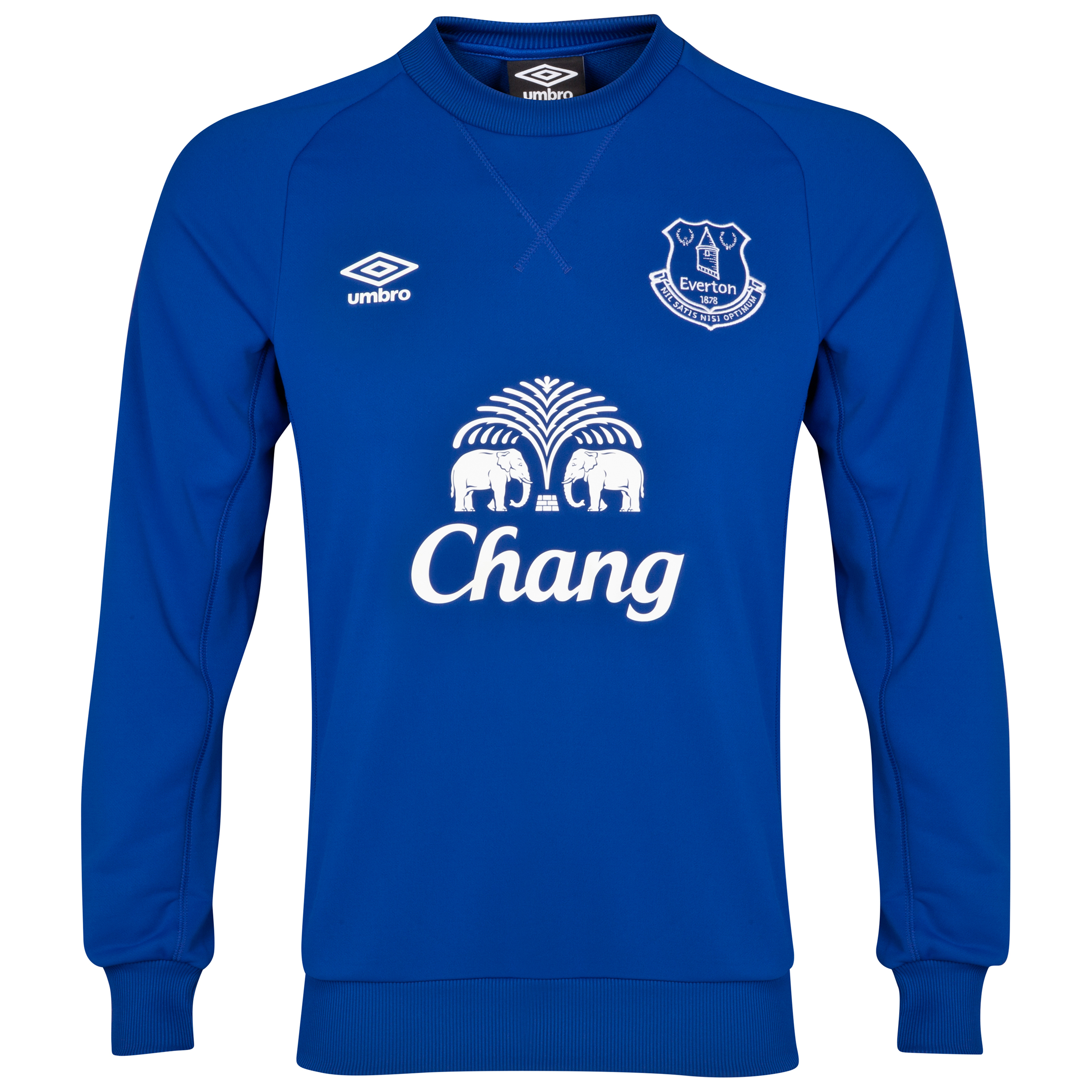 Everton Training Sweat Top-Deep Surf
