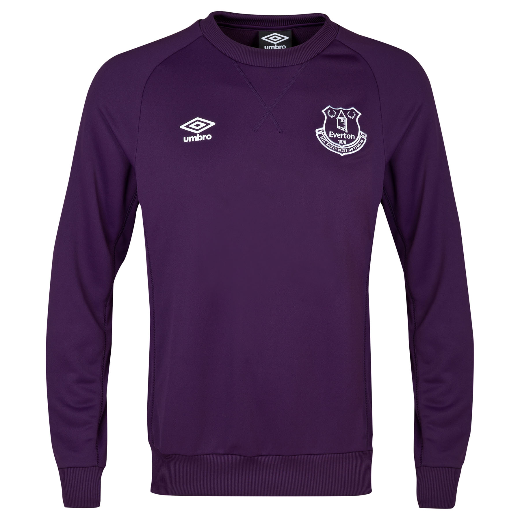 Everton Training Sweat Top - Junior-Blackberry Cordial