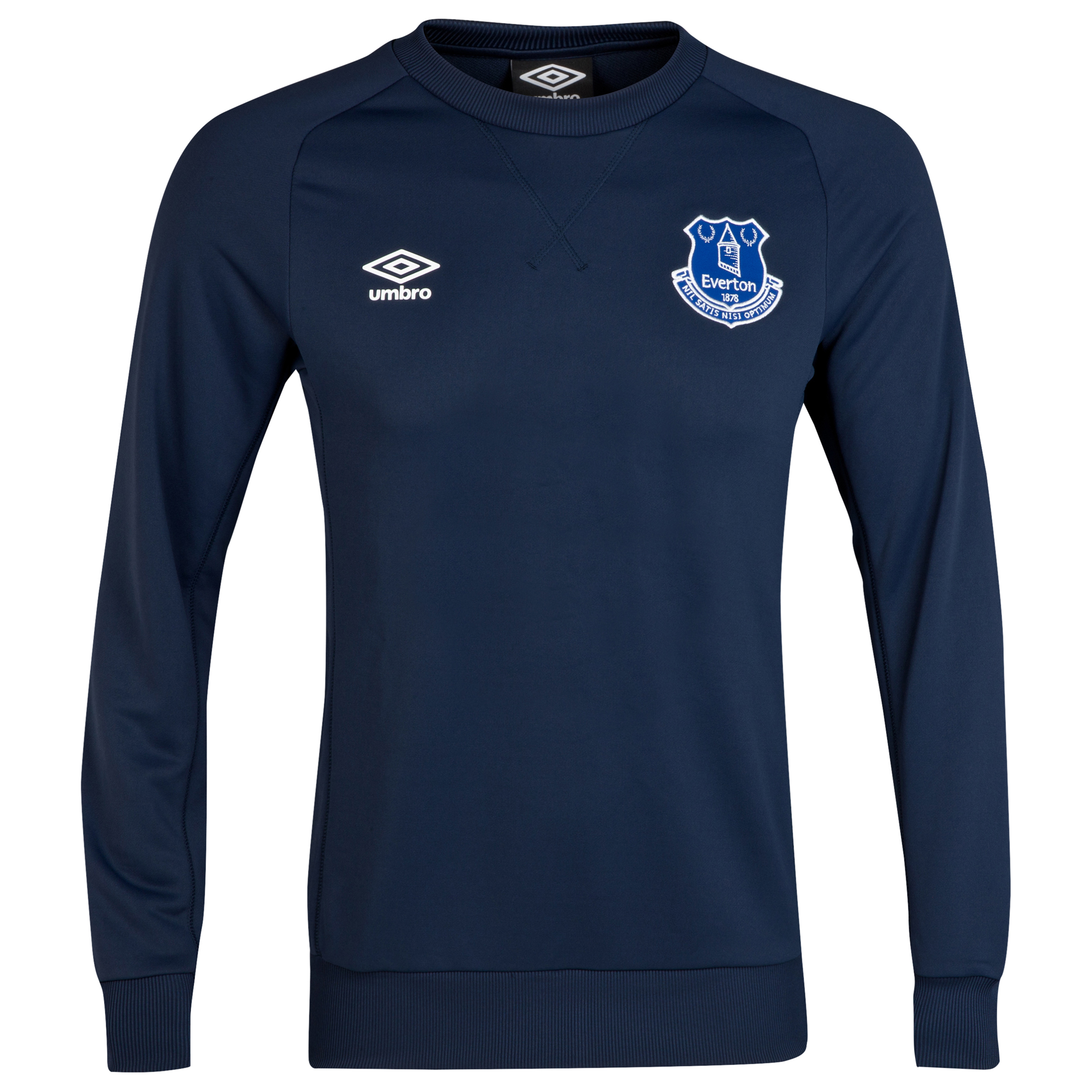 Everton Training Sweat Top - Junior-Dark Navy