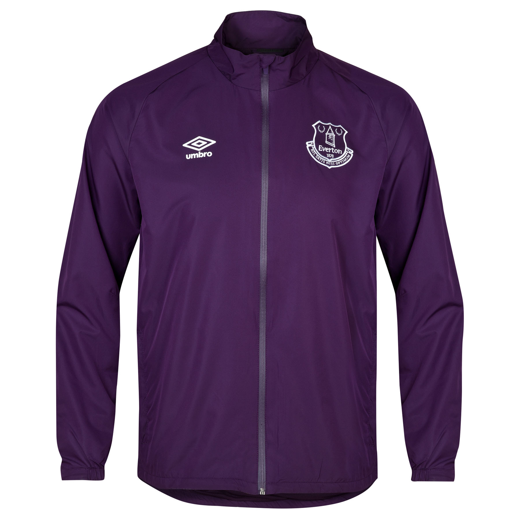 Everton Training Shower Jacket-Blackberry Cordial