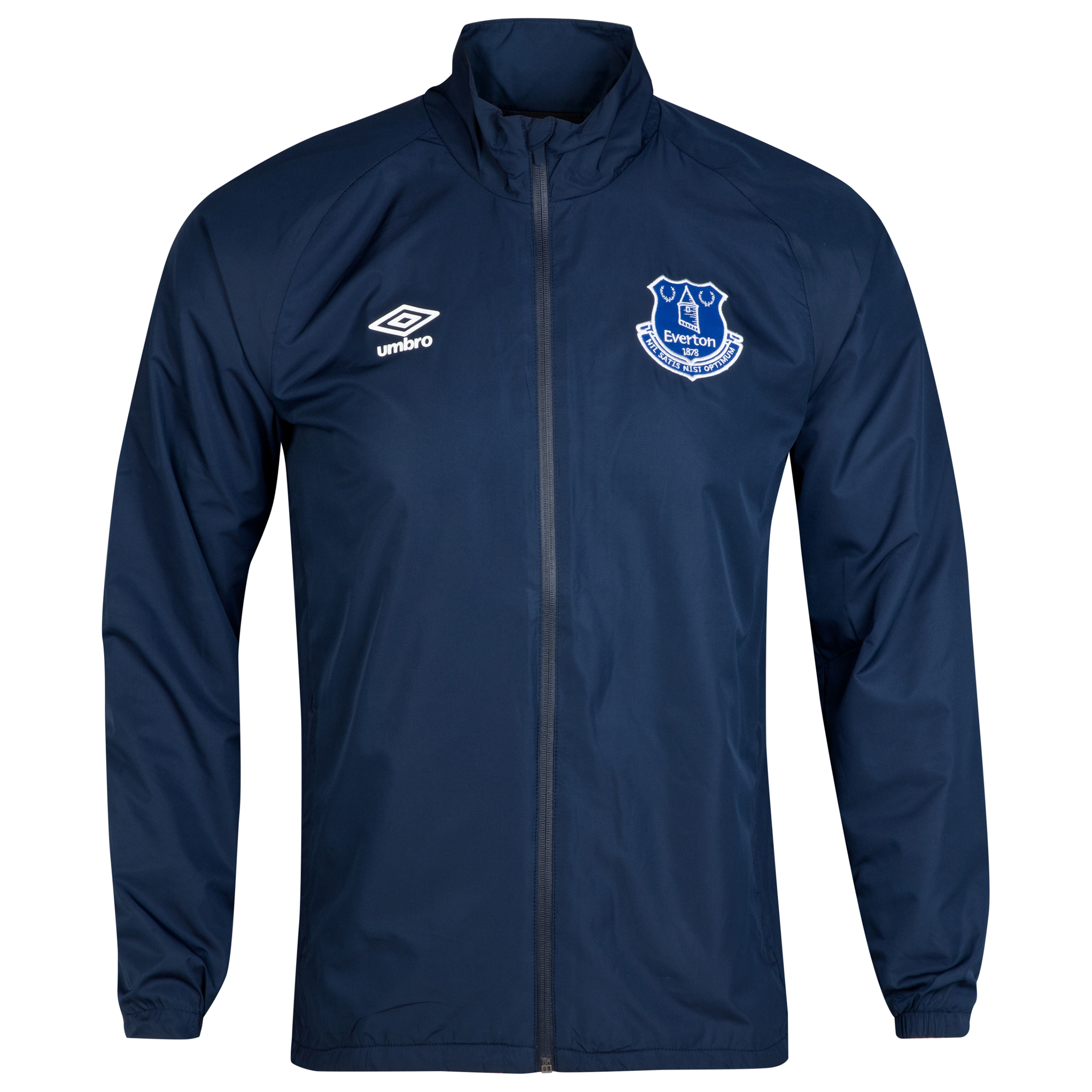 Everton Training Shower Jacket-Dark Navy
