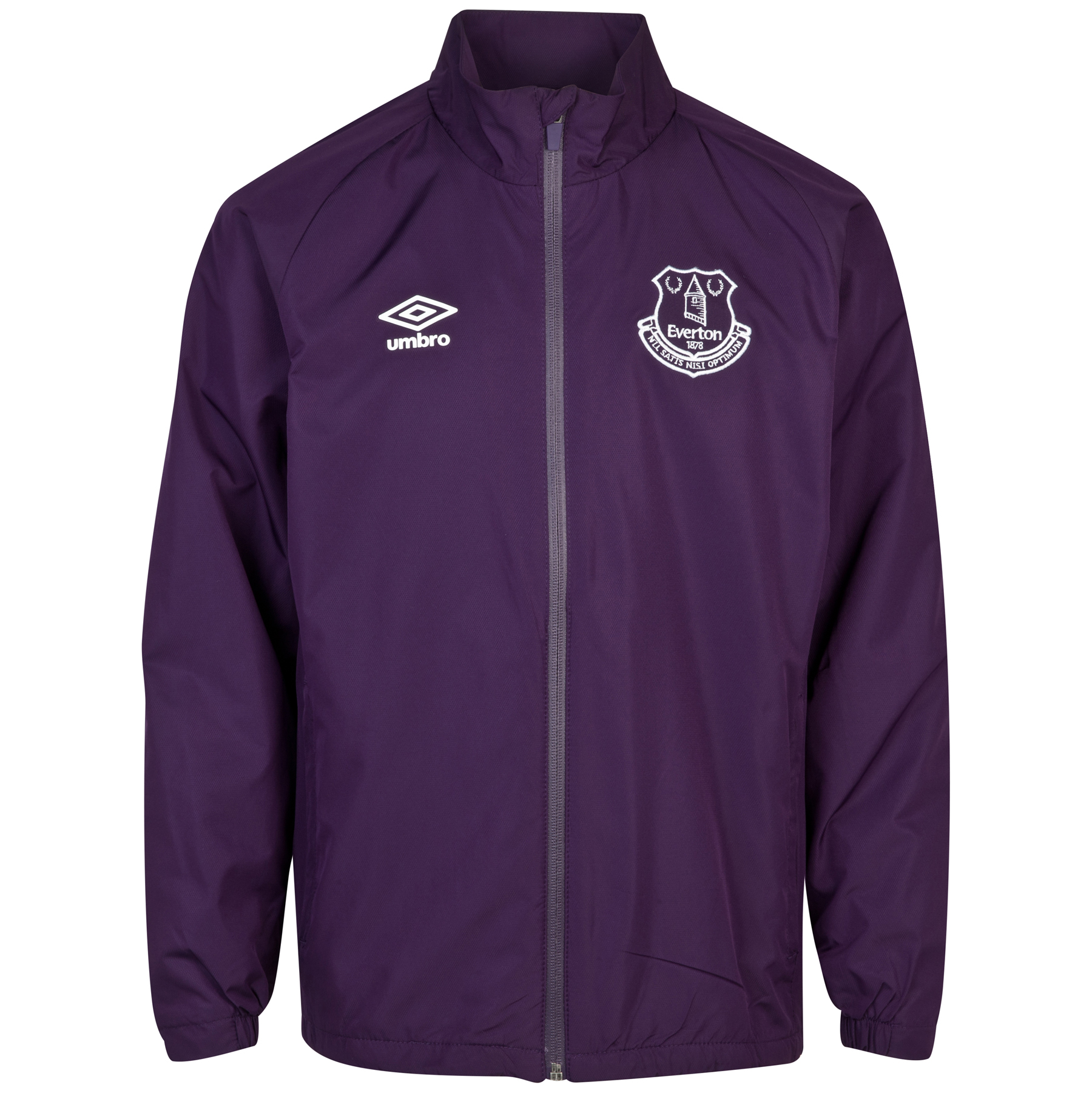 Everton Training Shower Jacket - Junior-Blackberry Cordial