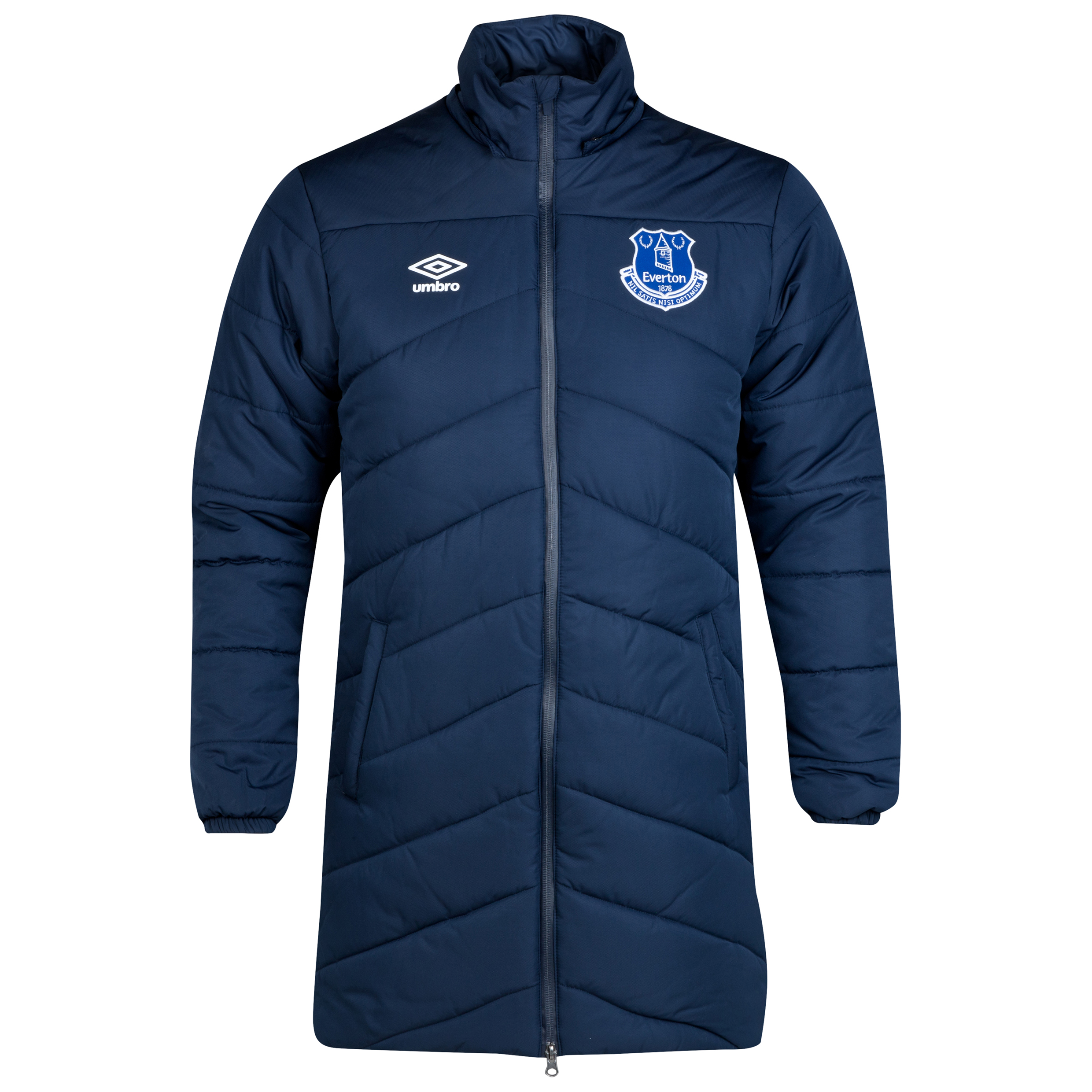 Everton Bench Padded Jacket - Junior-Dark Navy