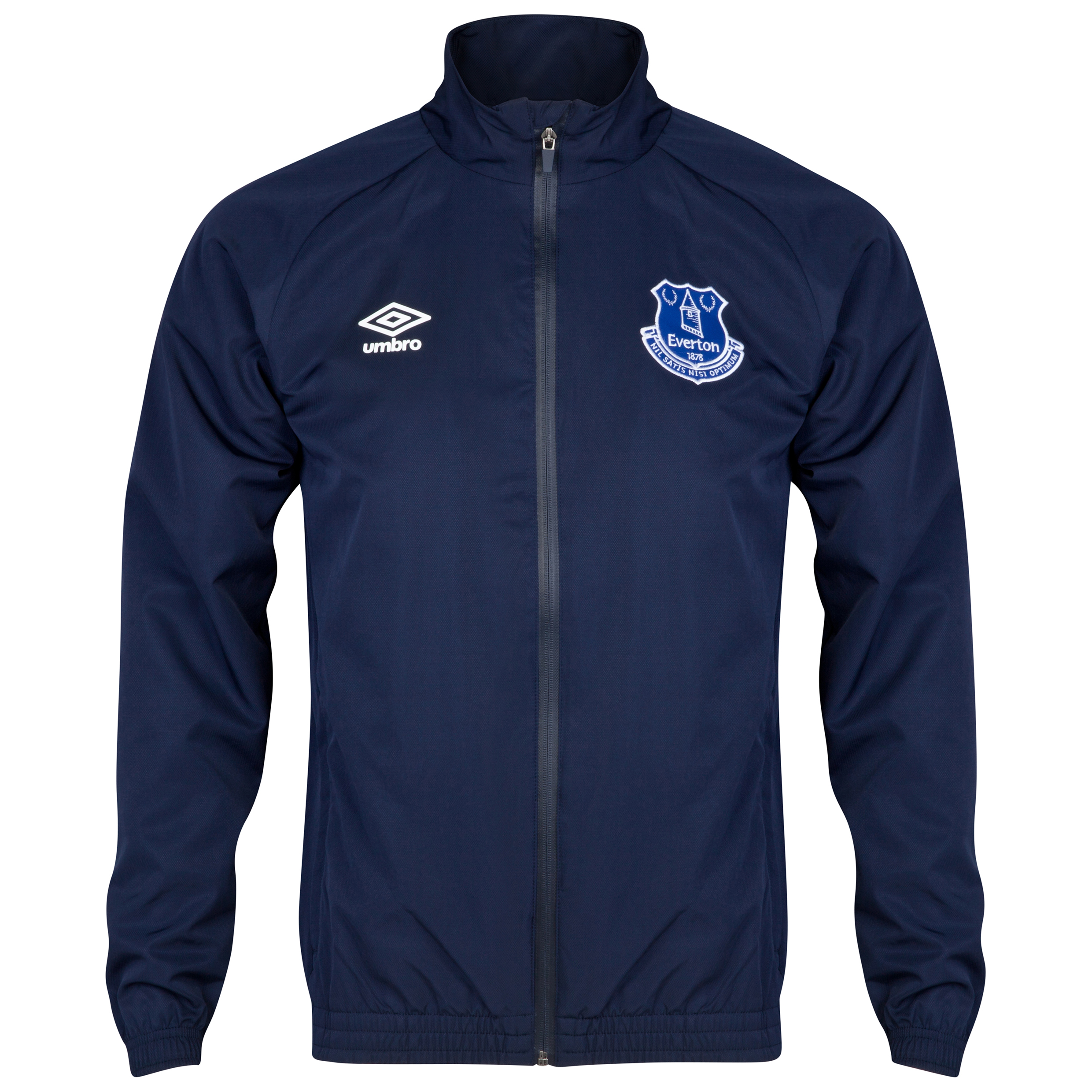 Everton Bench Woven Track Jacket-Dark Navy