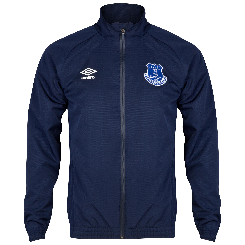 Everton Bench Woven Track Jacket - Junior-Dark Navy