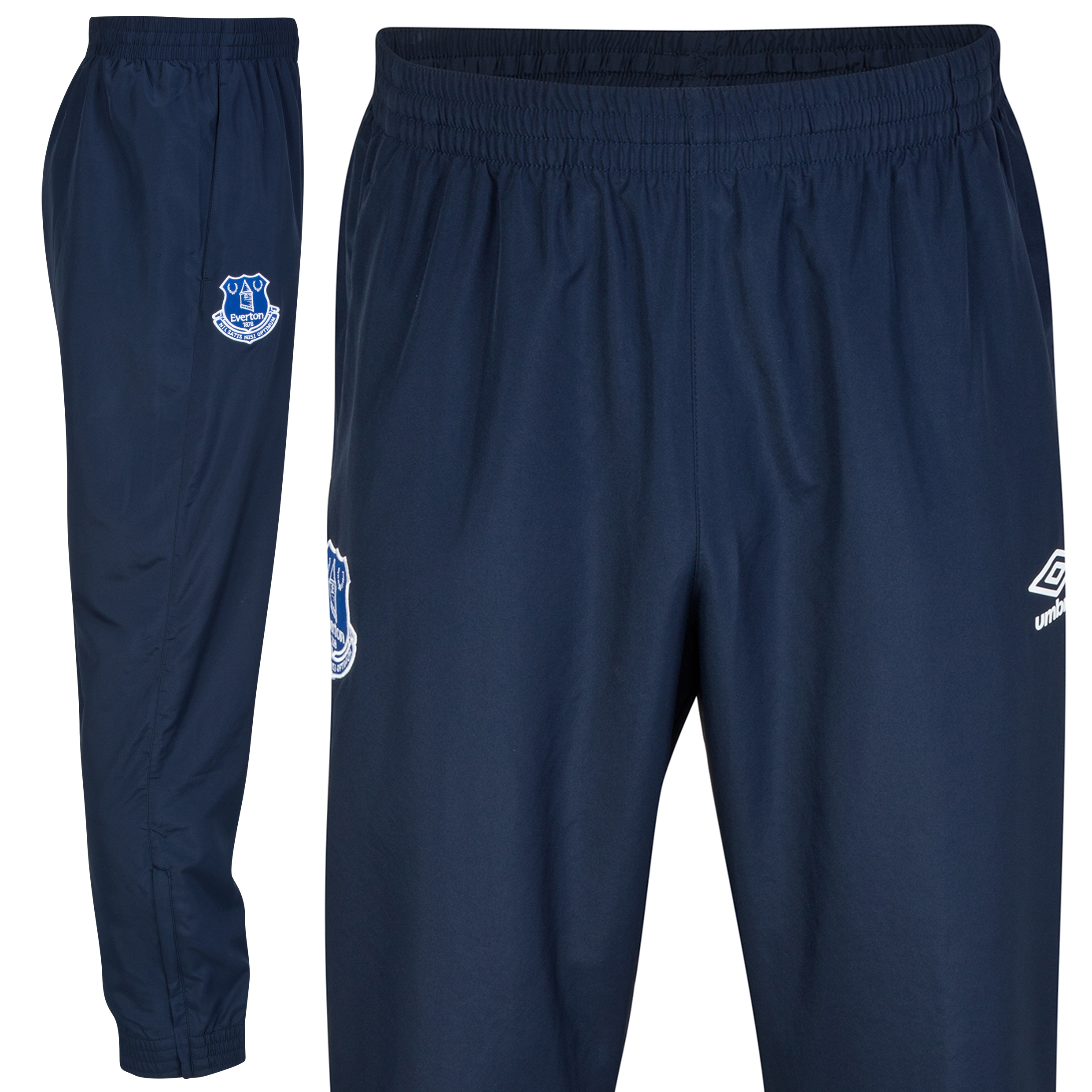 Everton Bench Woven Trackpant - Junior-Dark Navy