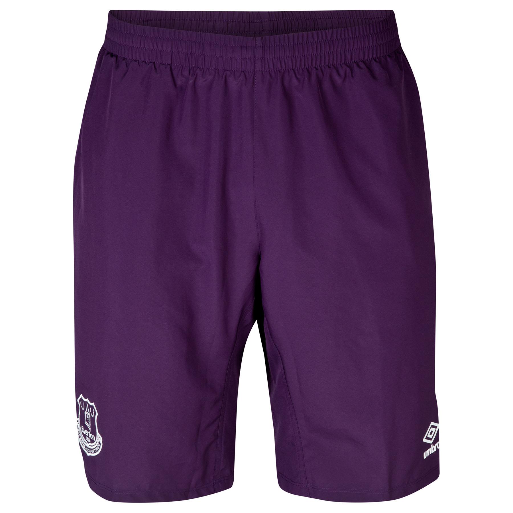 Everton Long Knit Short - Junior-Blackberry Cordial