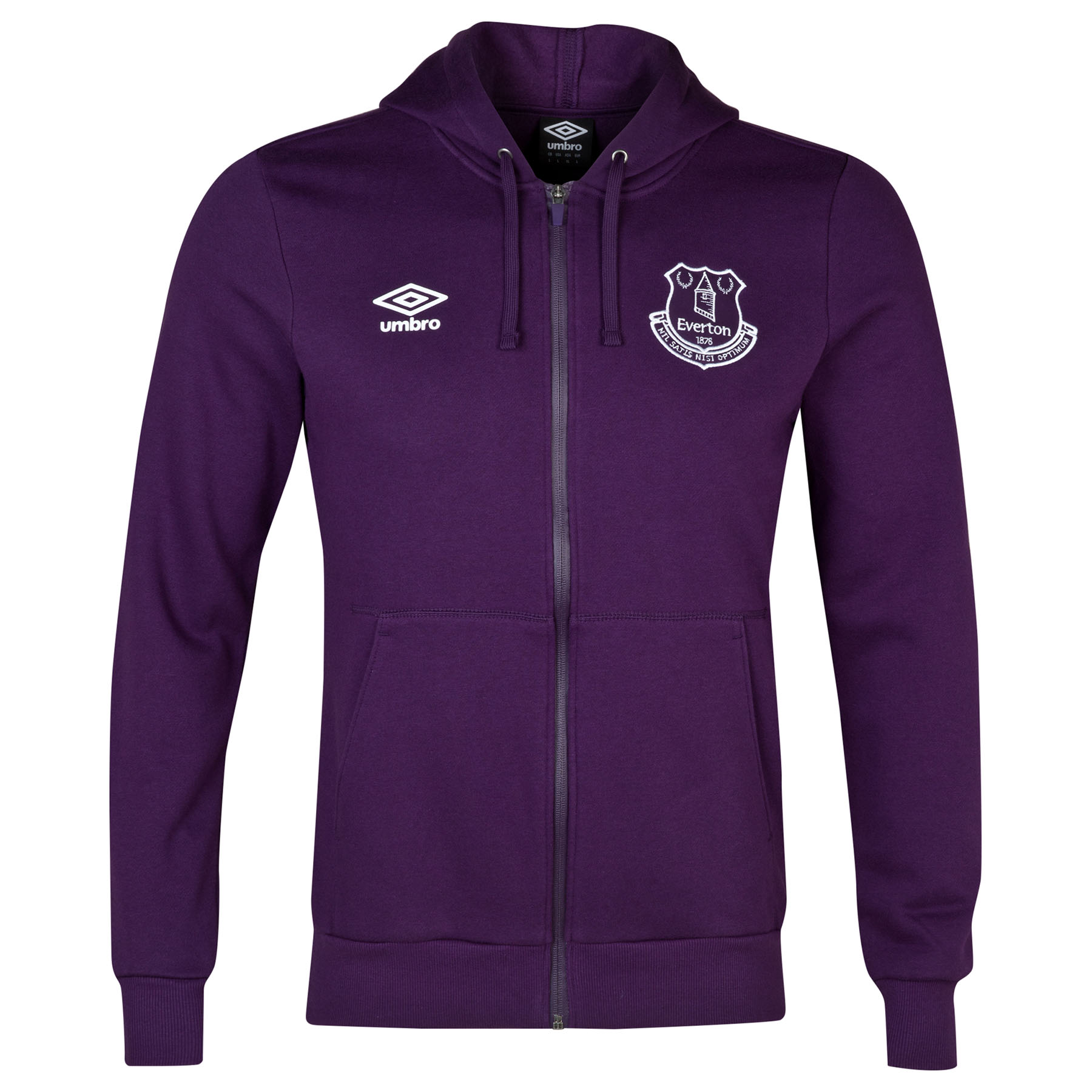 Everton Travel Full Zip Hooded Top-Blackberry Cordial Marl