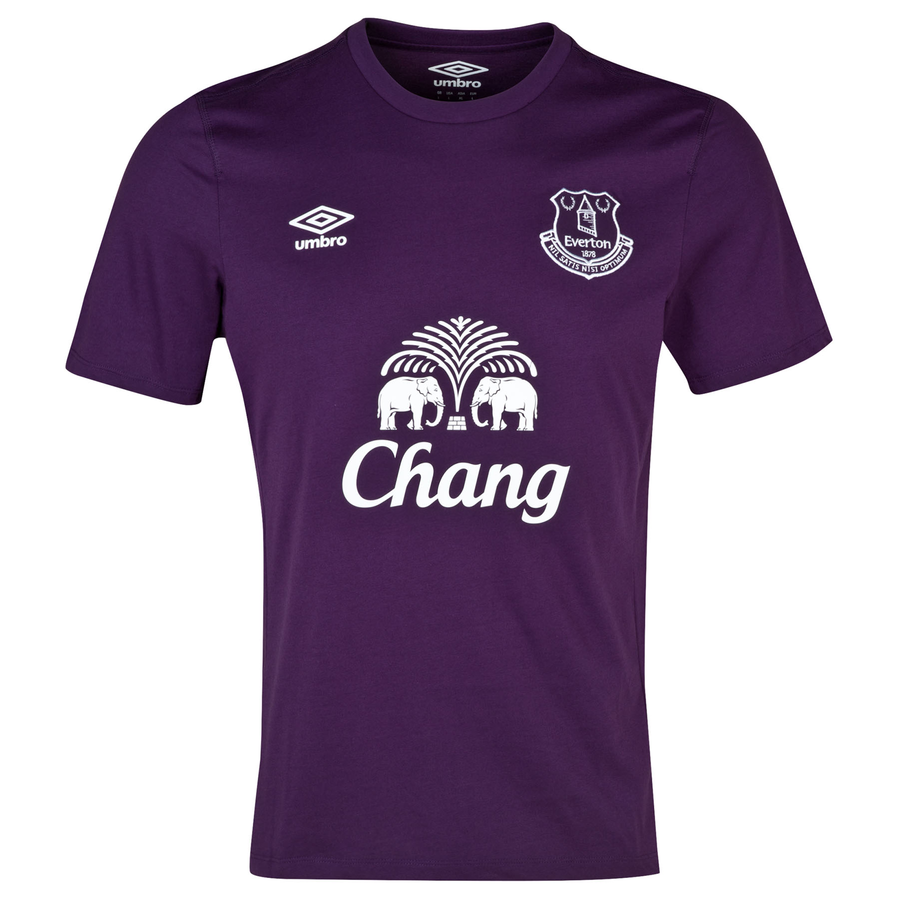 Everton Travel T-Shirt-Blackberry Cordial