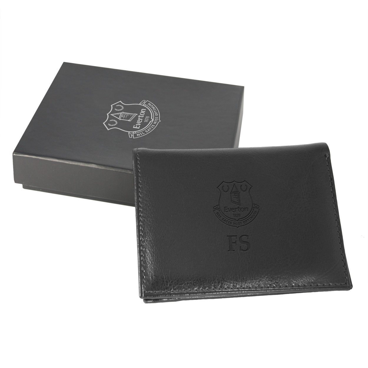 Everton Personalised Wallet - Black