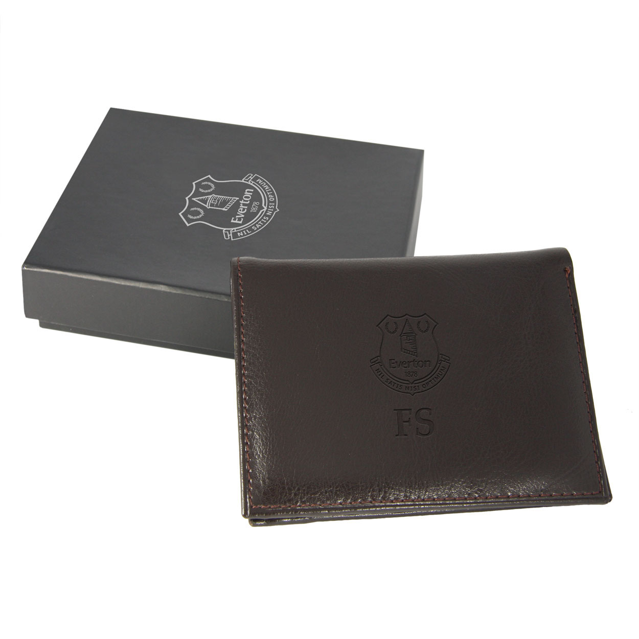 Everton Personalised Wallet Brown