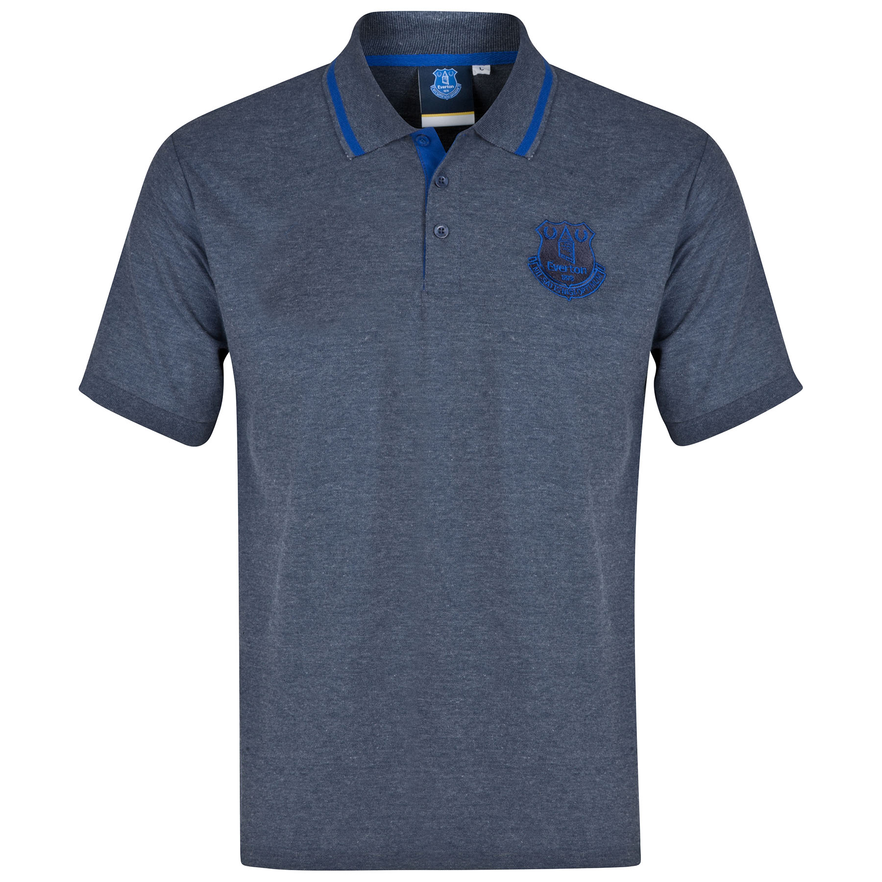 Everton Essential Polo Shirt - Heather Navy - Mens