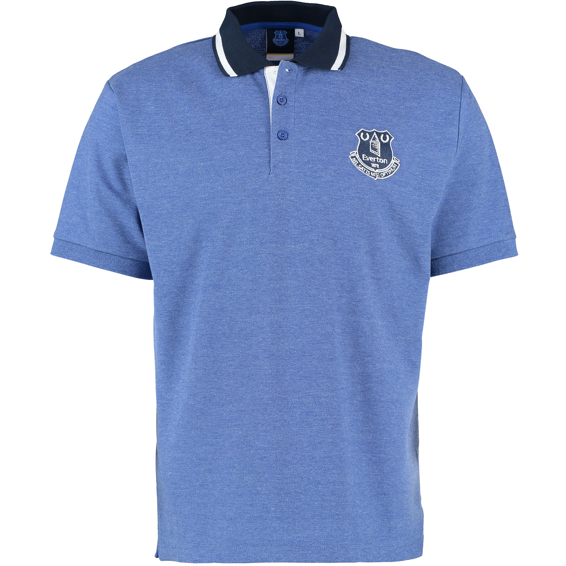 Everton Essential Polo Shirt - Heather Royal - Mens