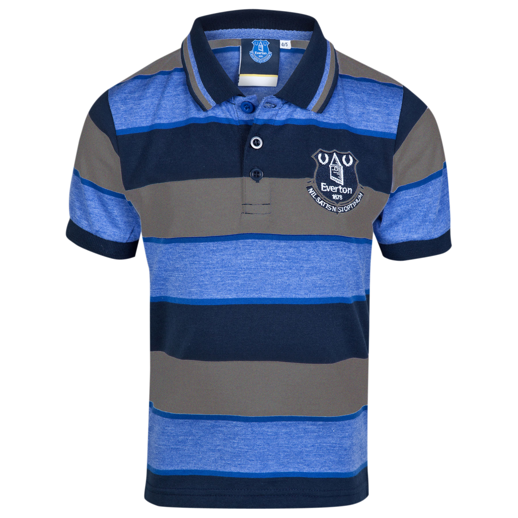 Everton Essential Stripe Polo Shirt - White/Multi - Infant Boys