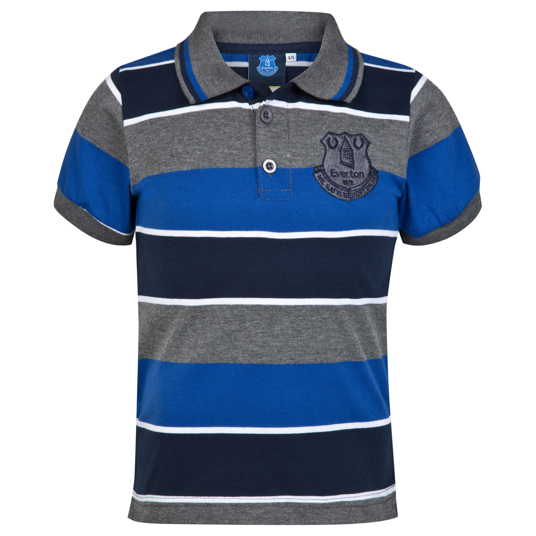 Everton Essential Stripe Polo Shirt - Vintage Marl/Navy/Everton Blue - Infant Boys