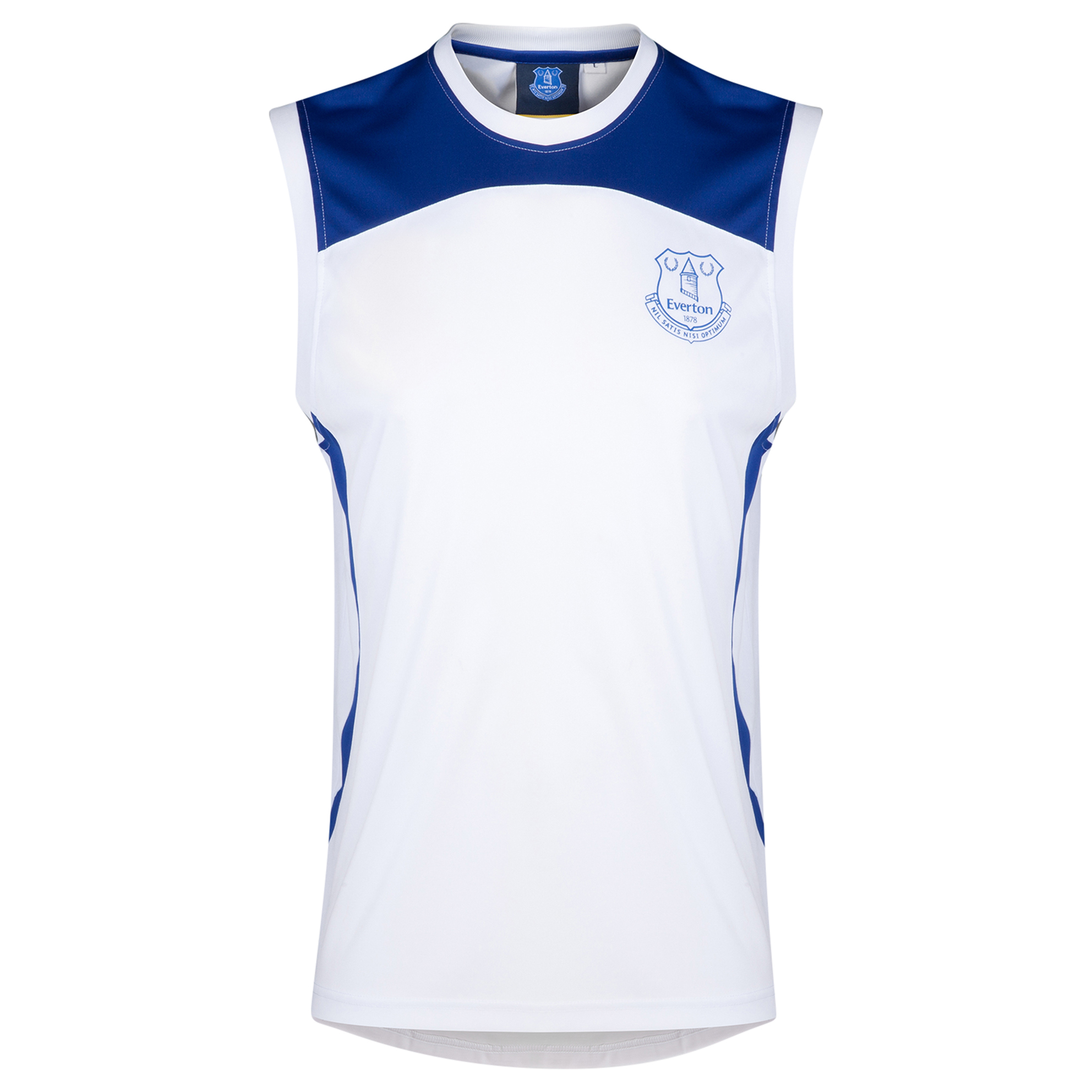 Everton Essential Poly Vest - White/Everton Blue - Mens
