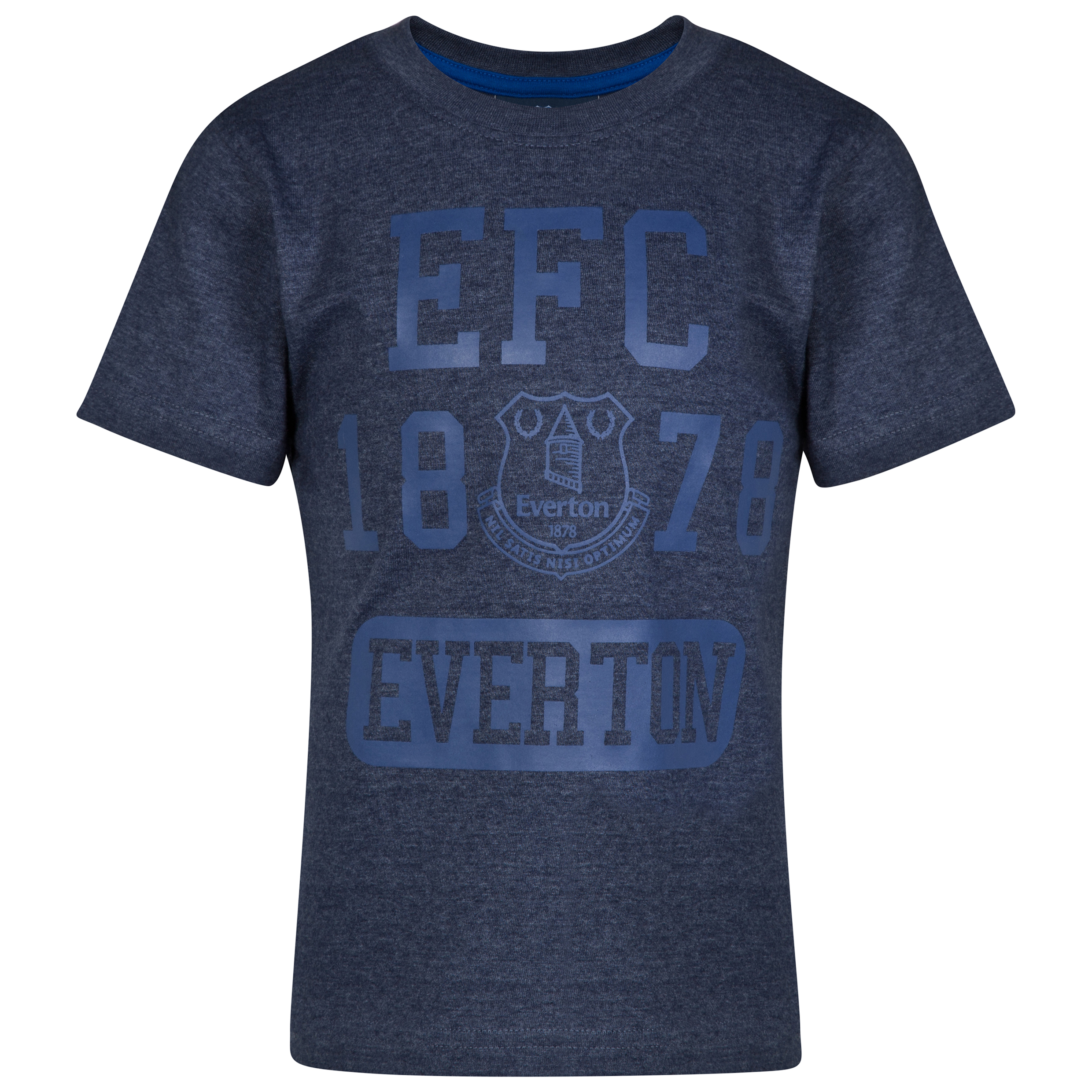 Everton Essential T-Shirt - Heather Navy - Older boys