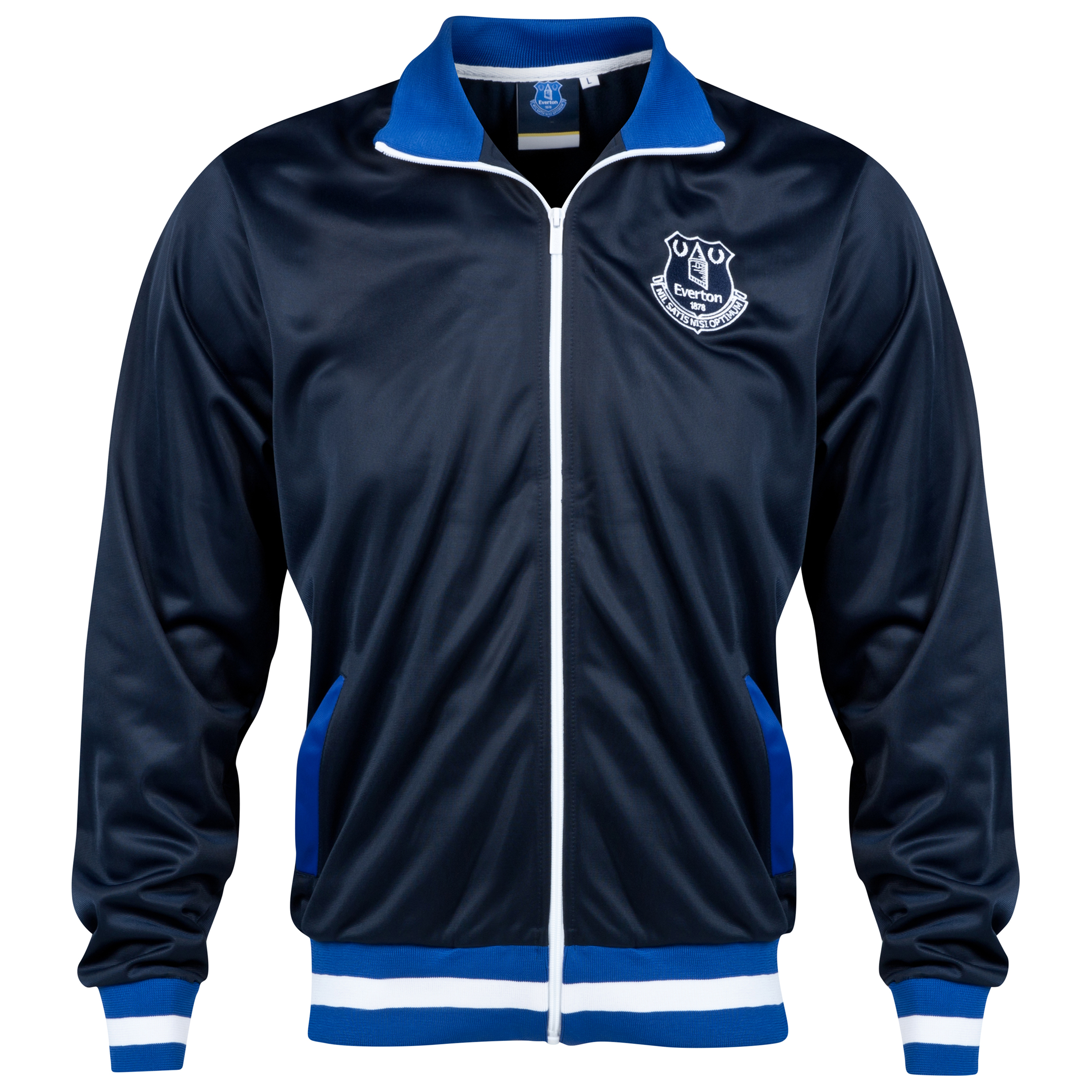 Everton Essential Track Jacket - Navy- Mens