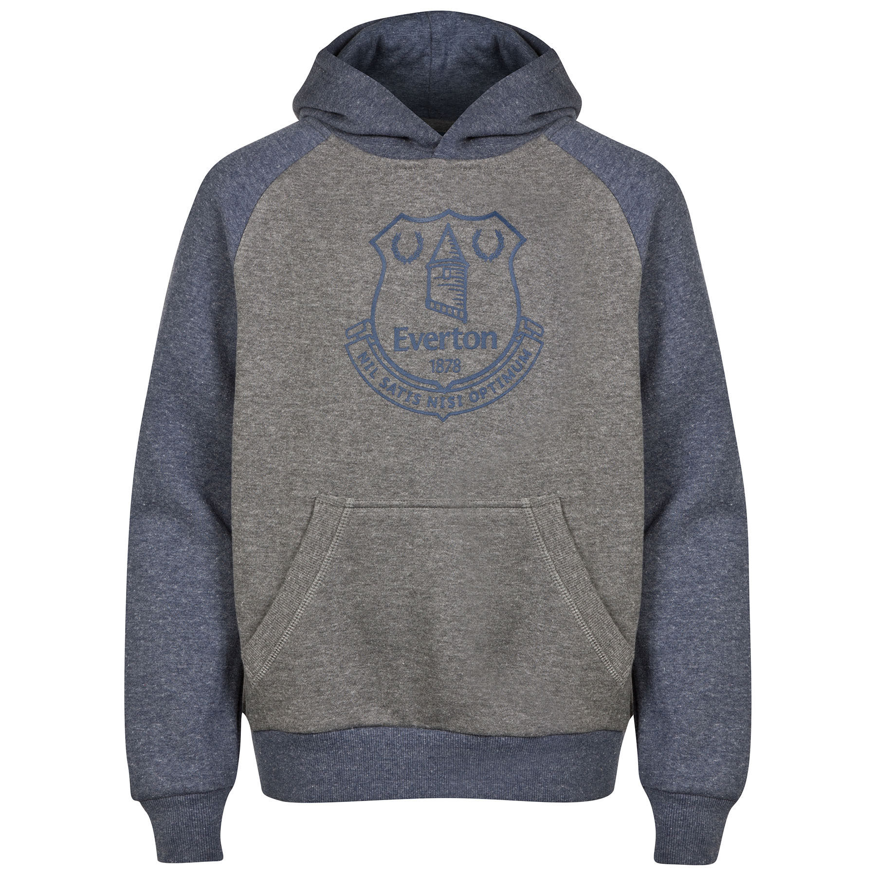 Everton Essential Hoodie - Heather Navy/Grey - Older Boys