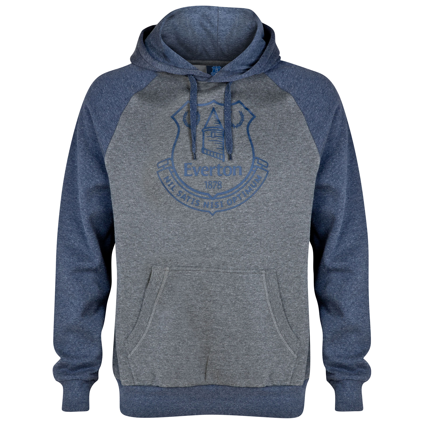 Everton Essential Hoodie - Heather Navy/Grey - Mens