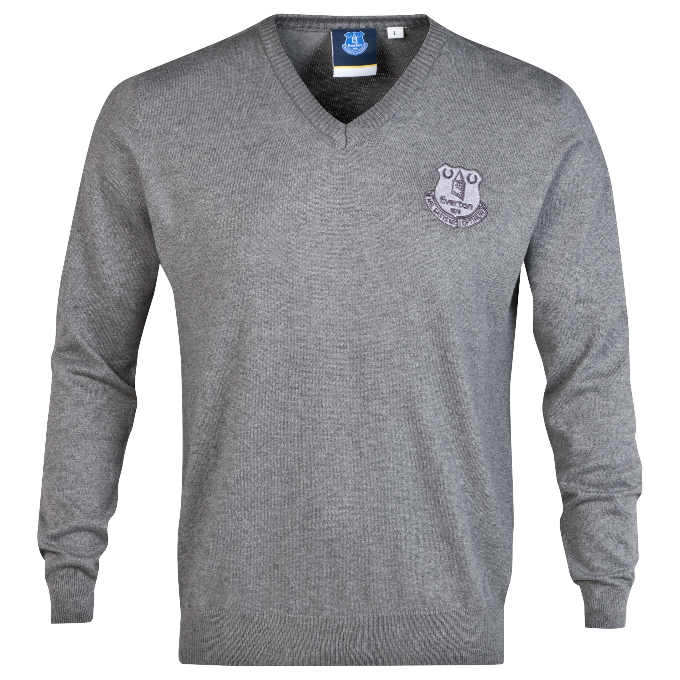 Everton Essential V Neck Jumper - Vintage Marl - Mens