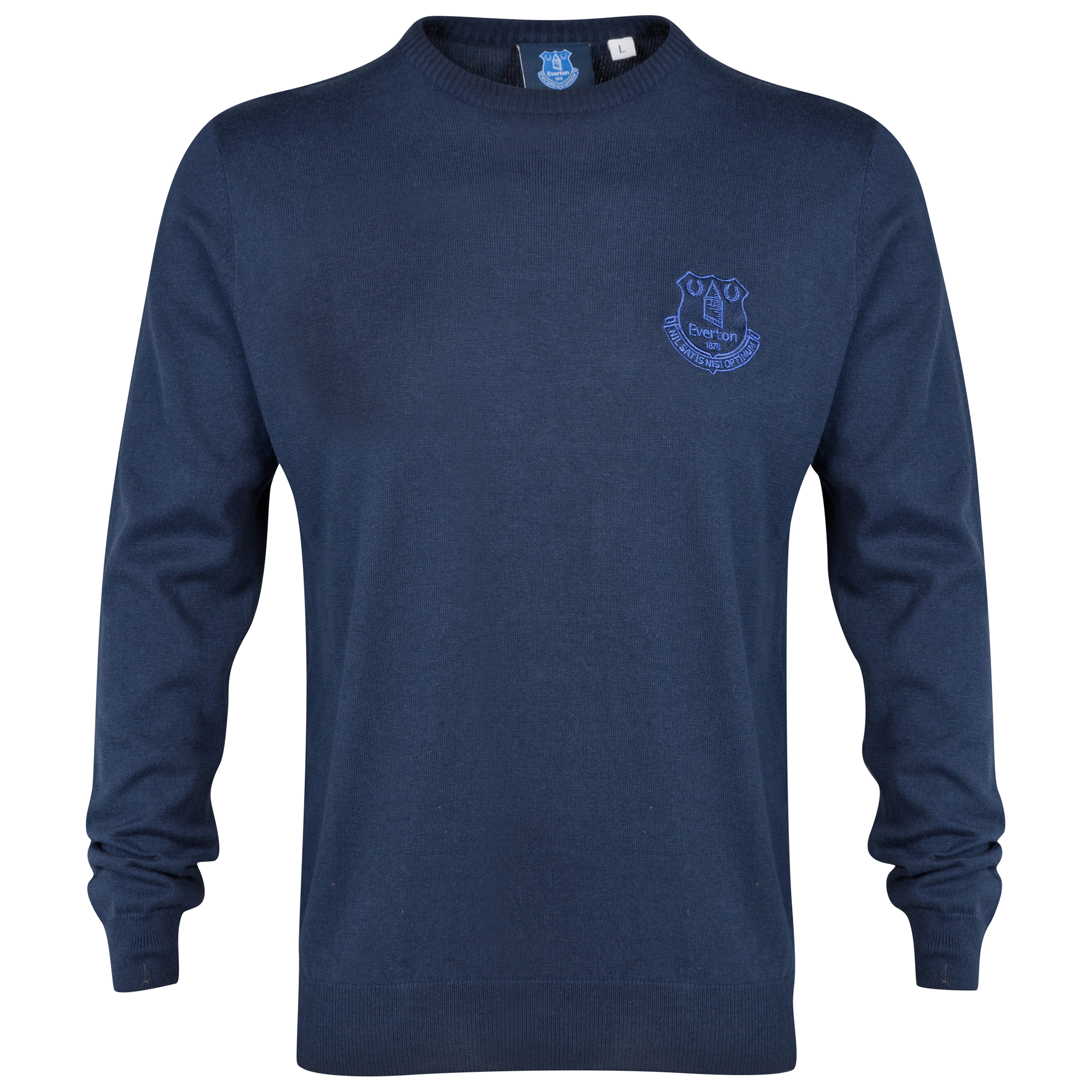 Everton Essential Jumper Crew Neck Jumper - Navy - Mens