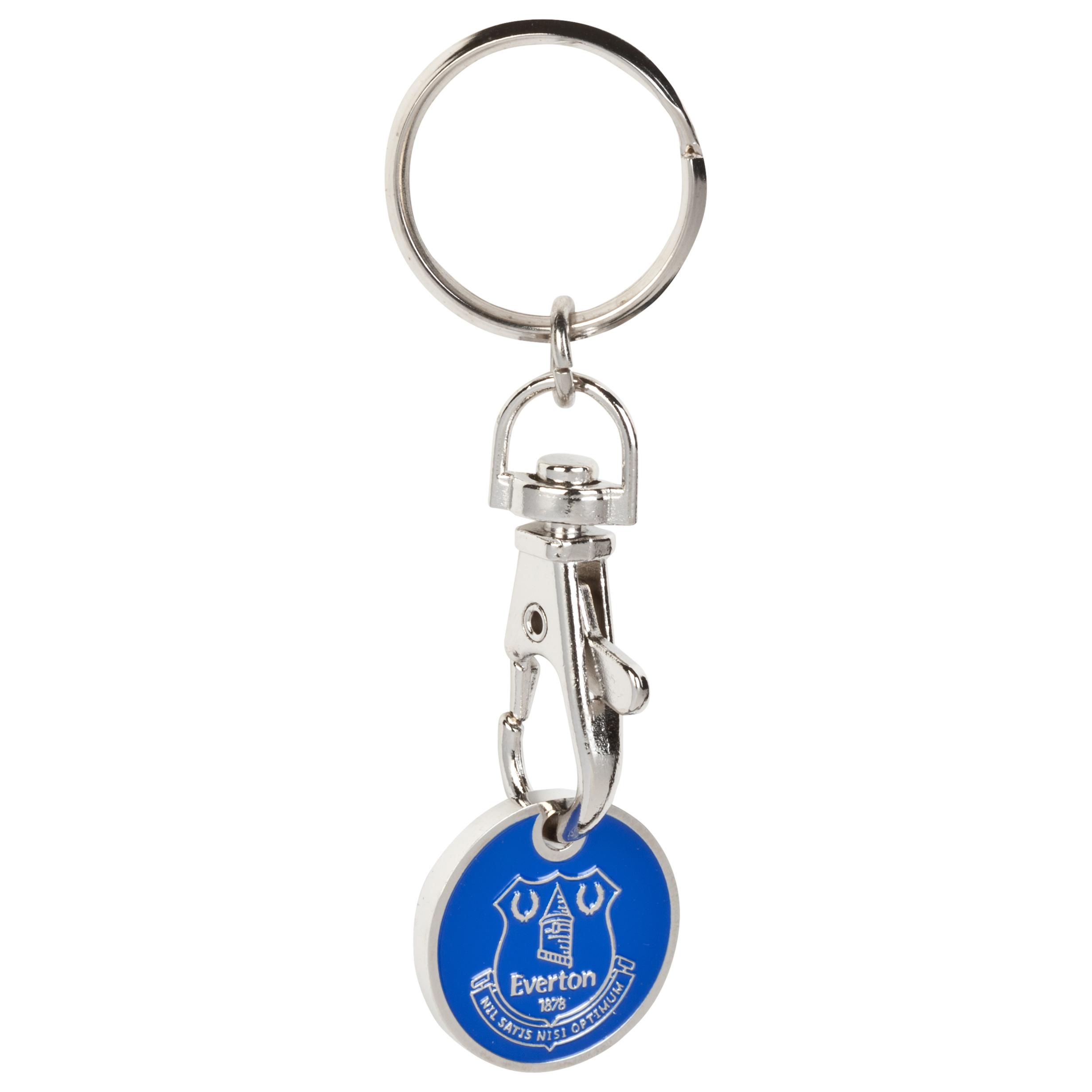 Everton Trolley Coin Keyring