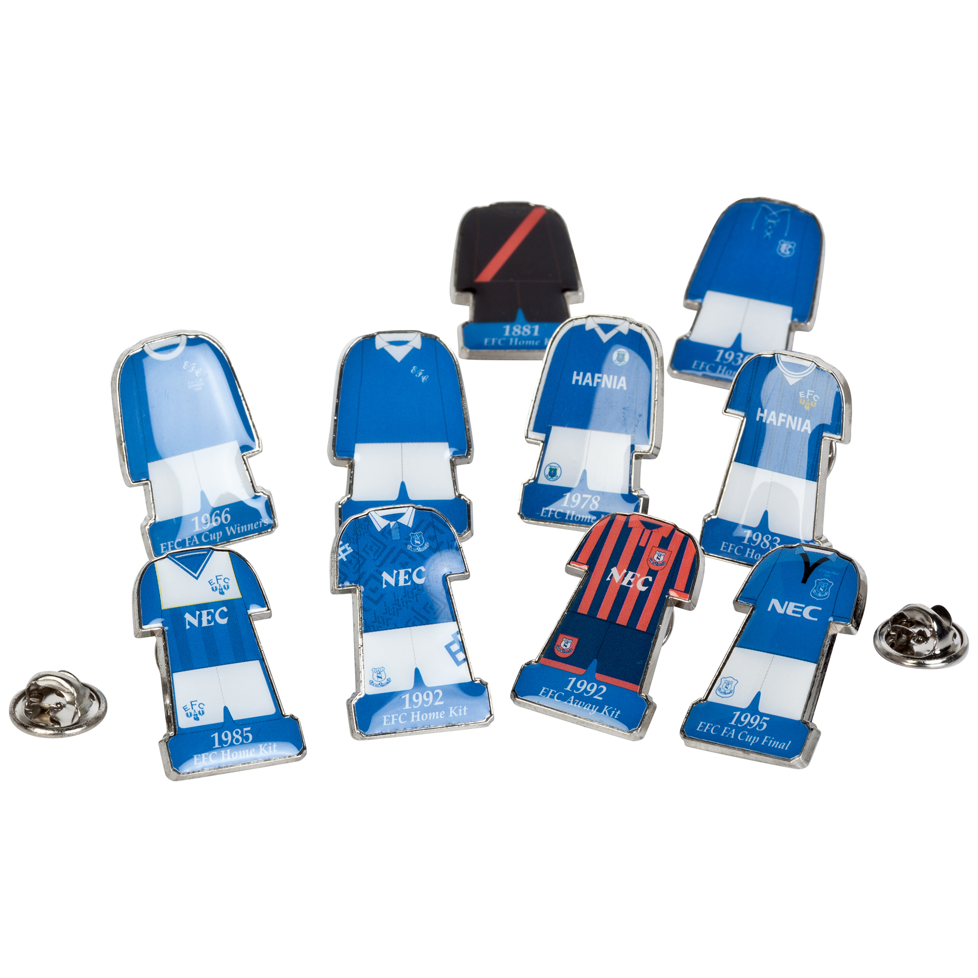 Everton Retro Kit Badge Set
