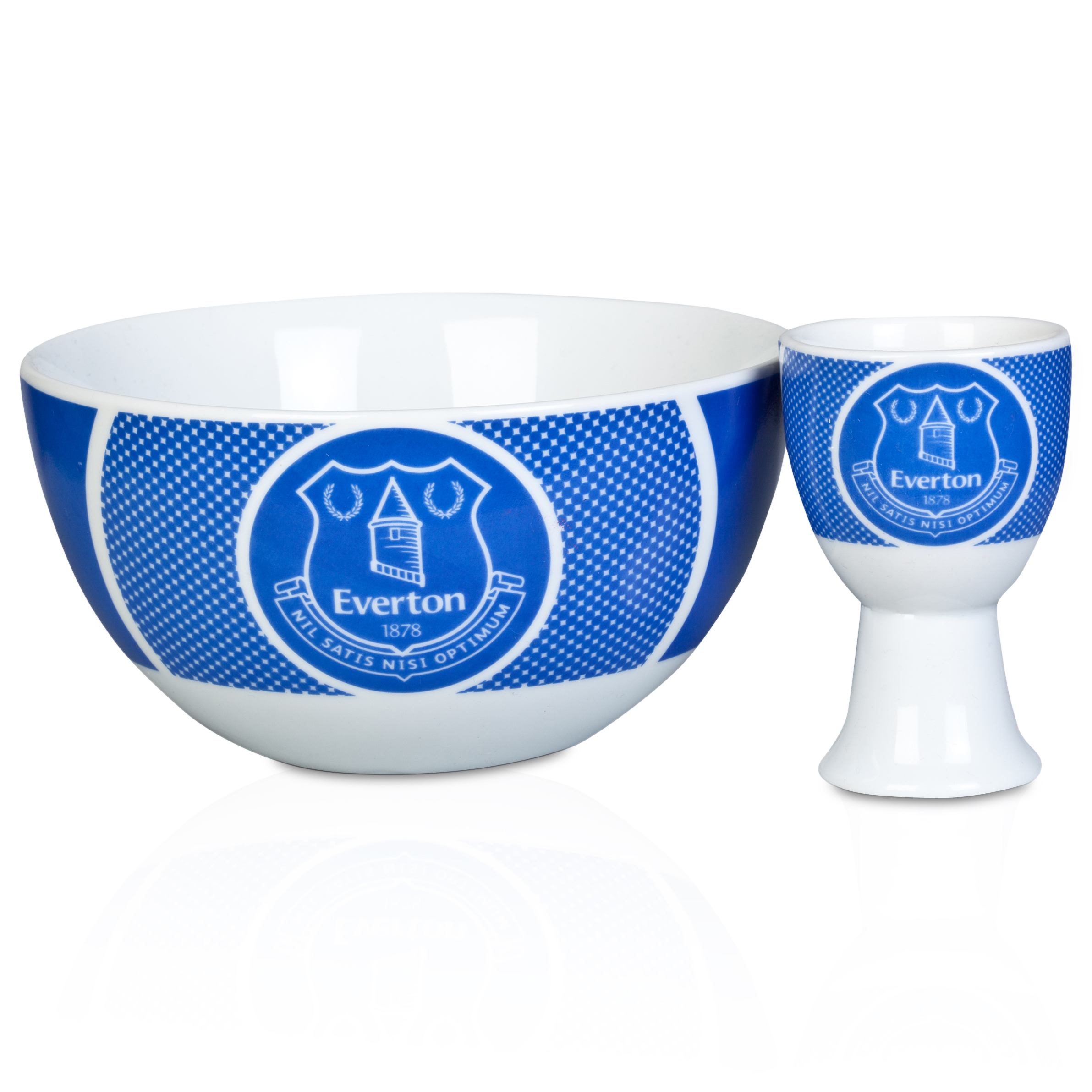 Everton Bullseye Cereal Bowl and Egg Cup