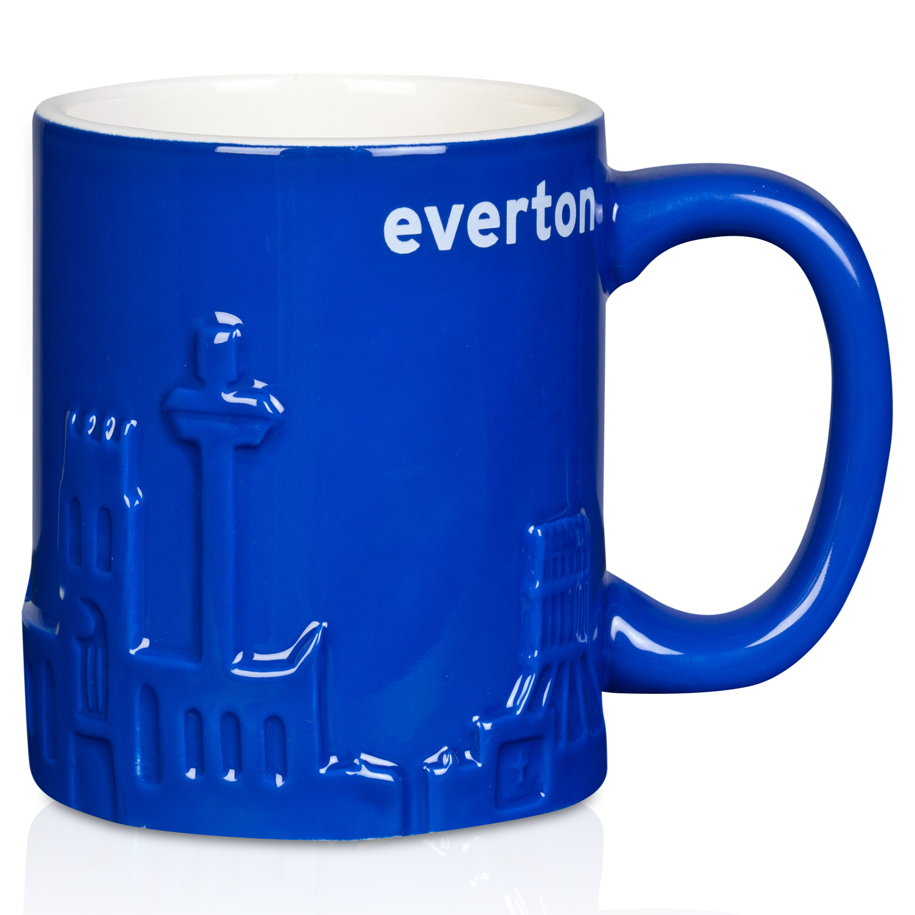 Everton Embossed Sculptured Skline Mug