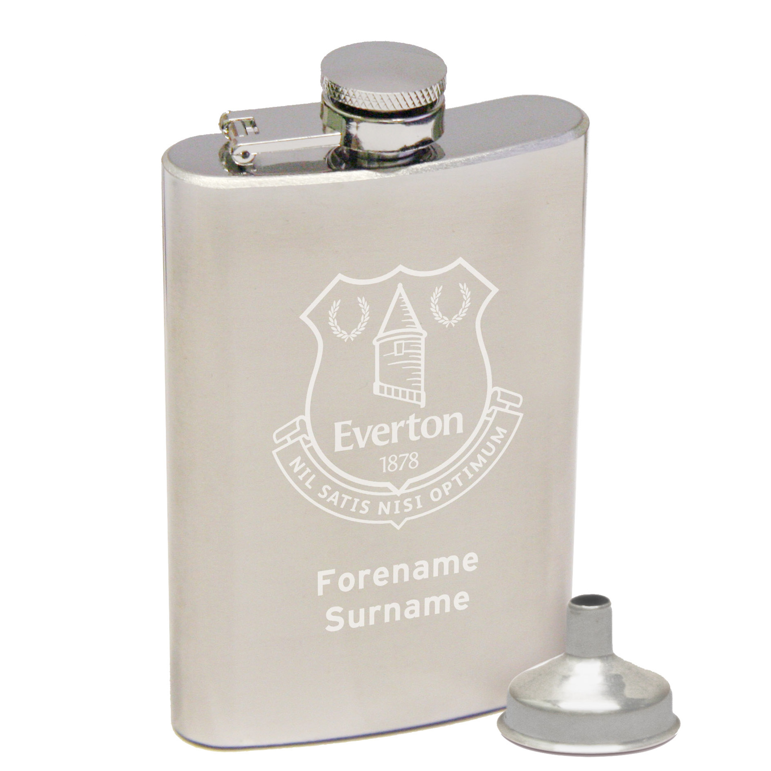 Everton Personalised Crest Hip Flask 2oz