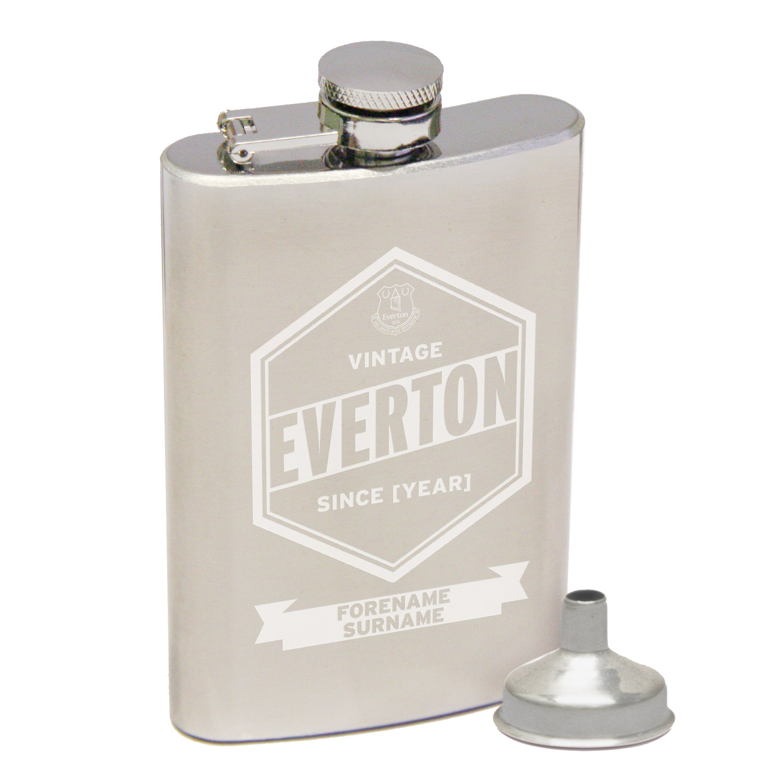 Everton Personalised Vintage Hip Flask 2oz
