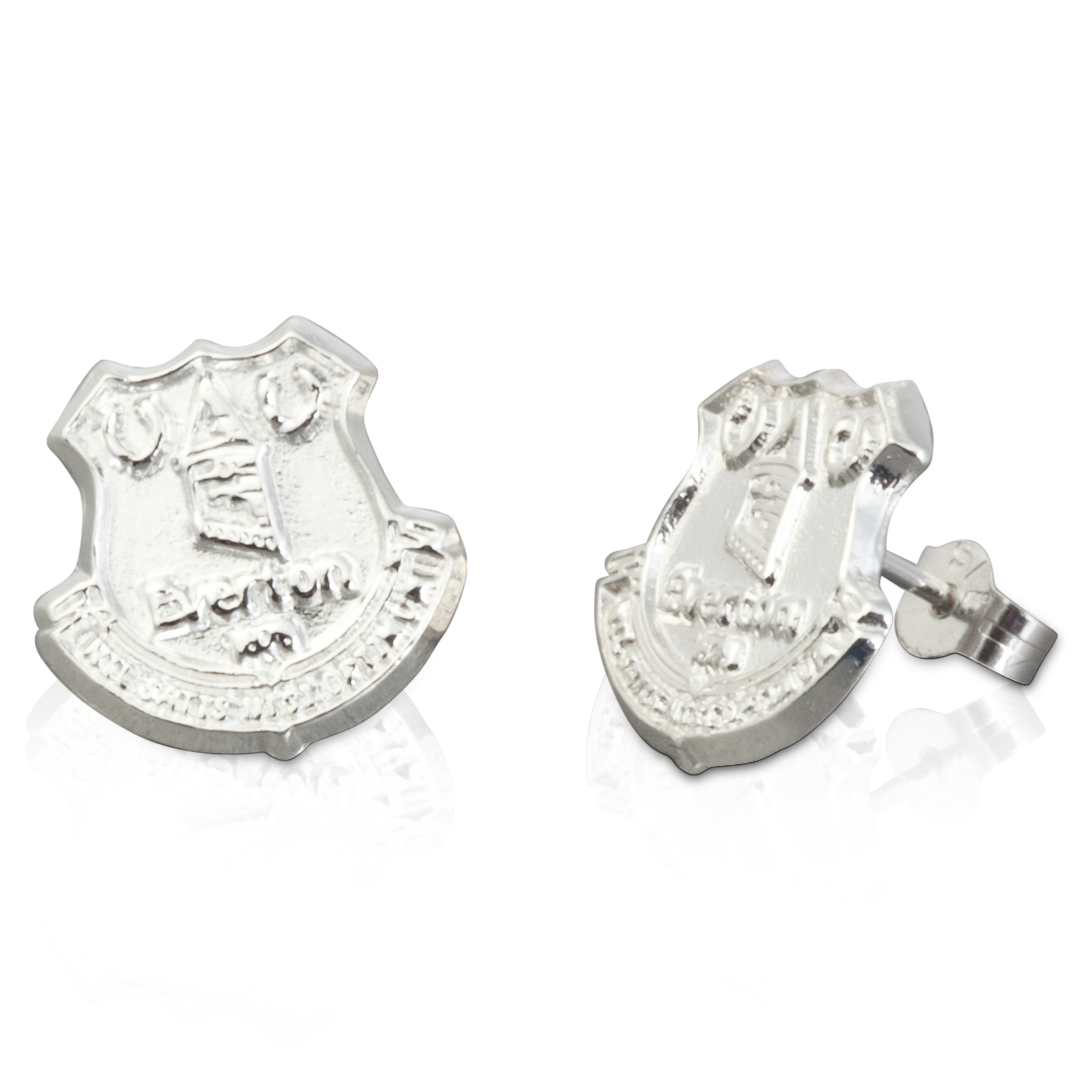 Everton Crest Stud Earring - Pair - Sterling Silver