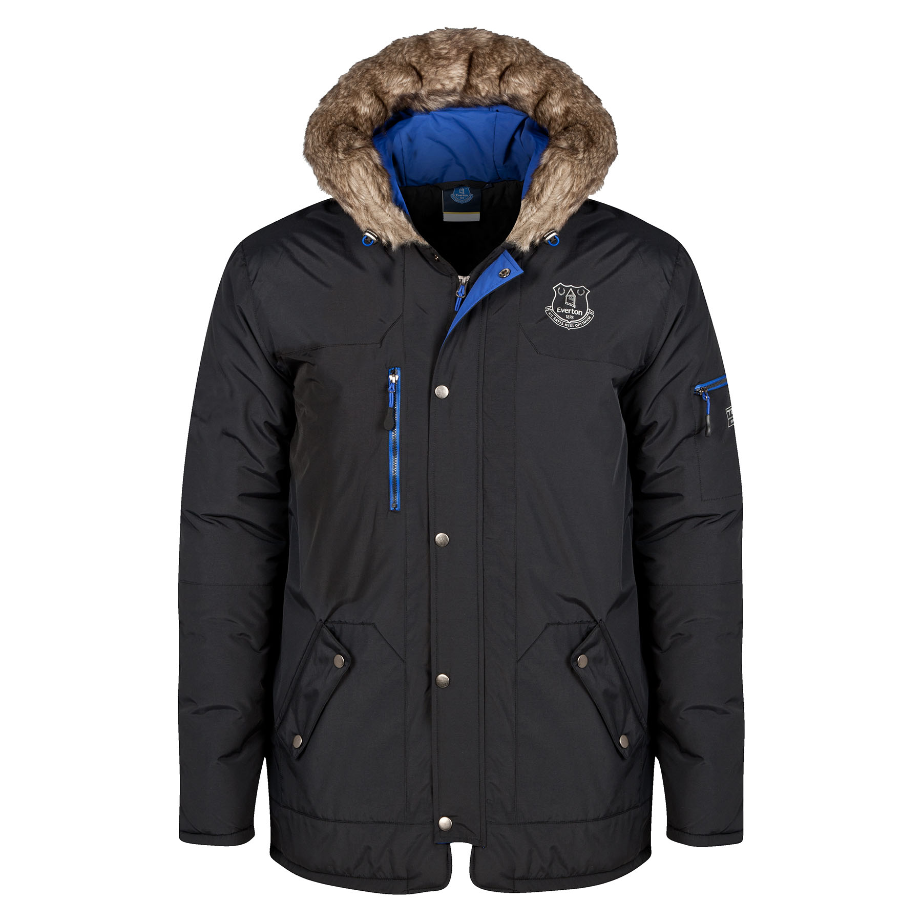 Everton Parka Coat - Black - Mens