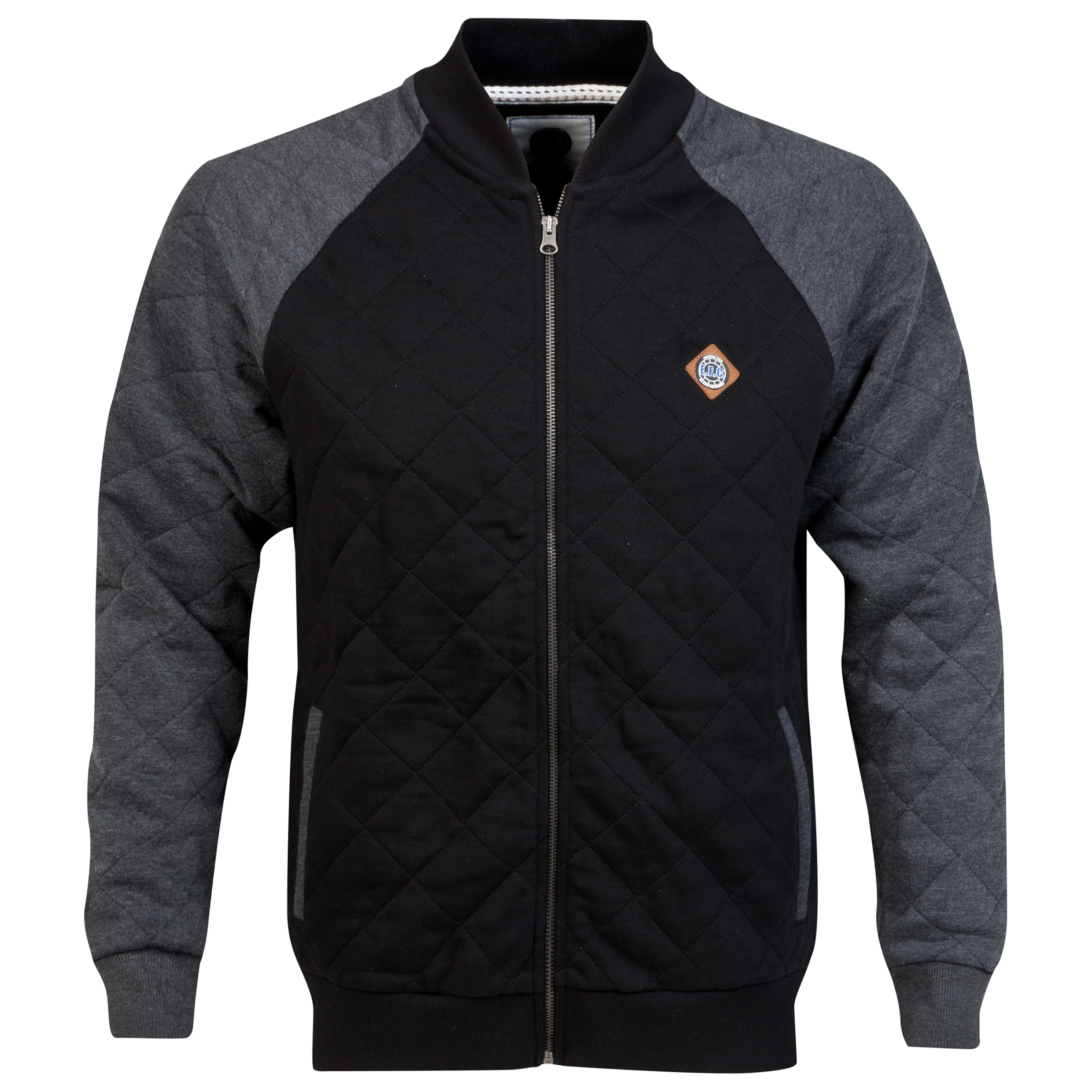 Everton Bomber Jacket - Black/Grey - Mens