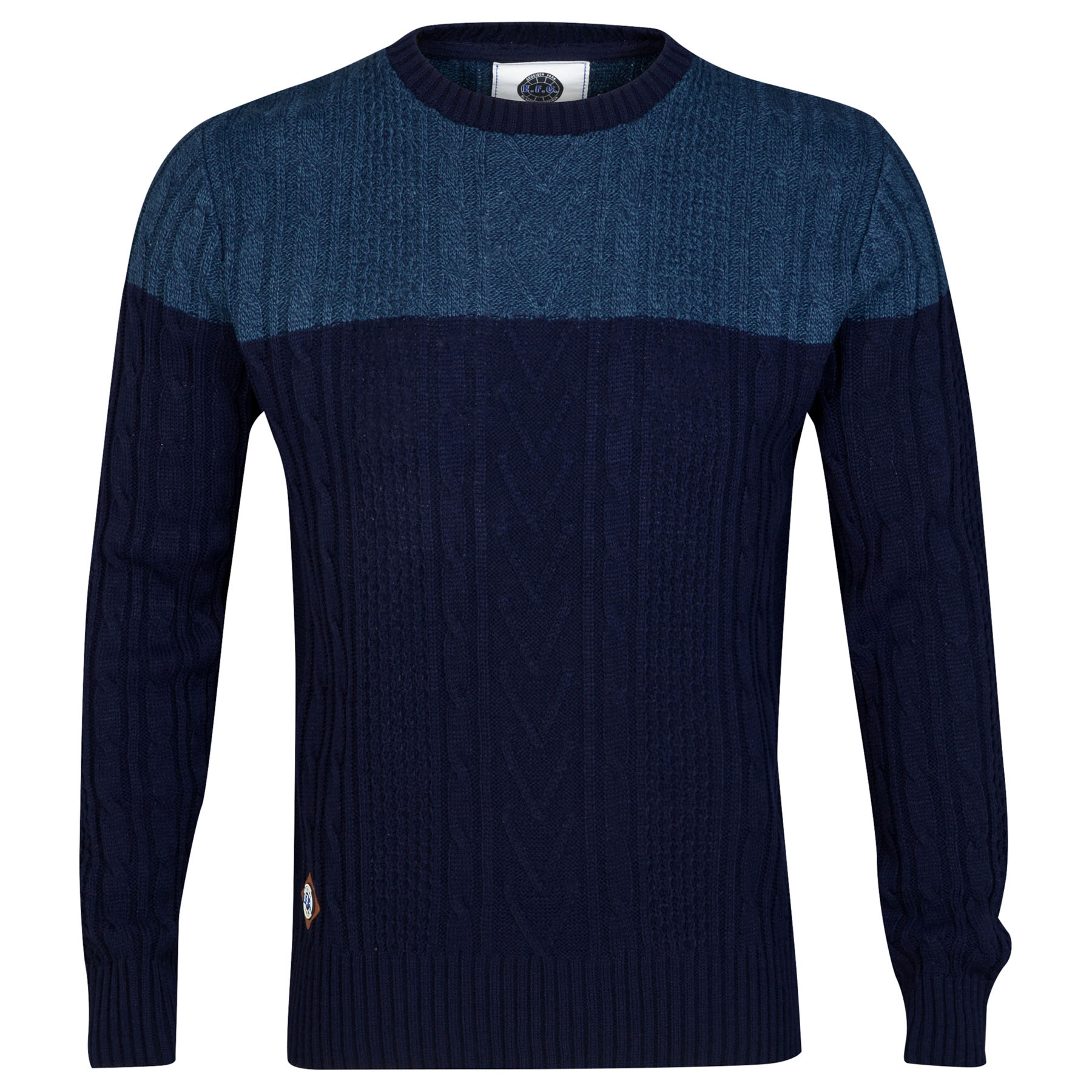 Everton Jumper - Navy/Grey - Mens