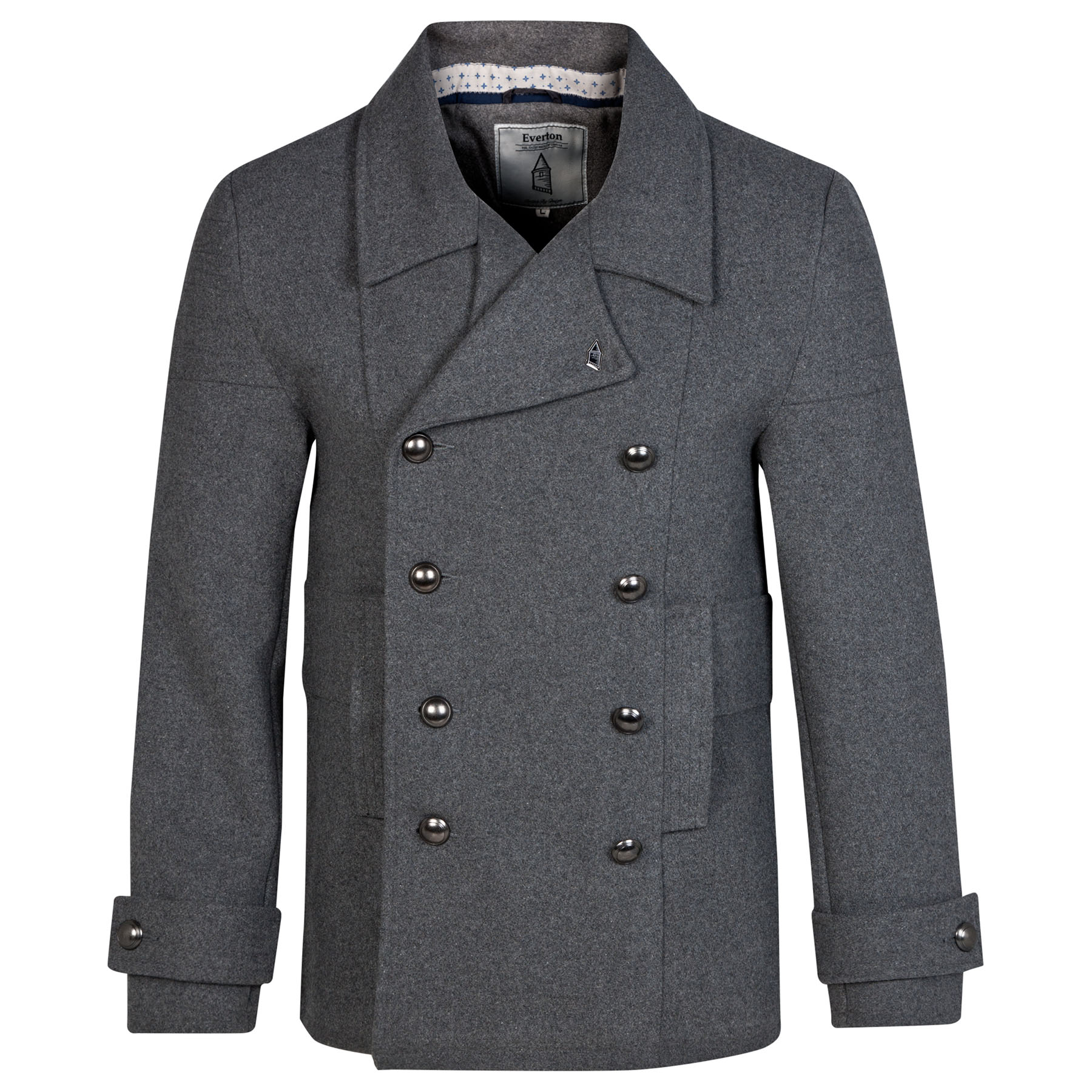 Everton Pea Coat - Charcoal - Mens