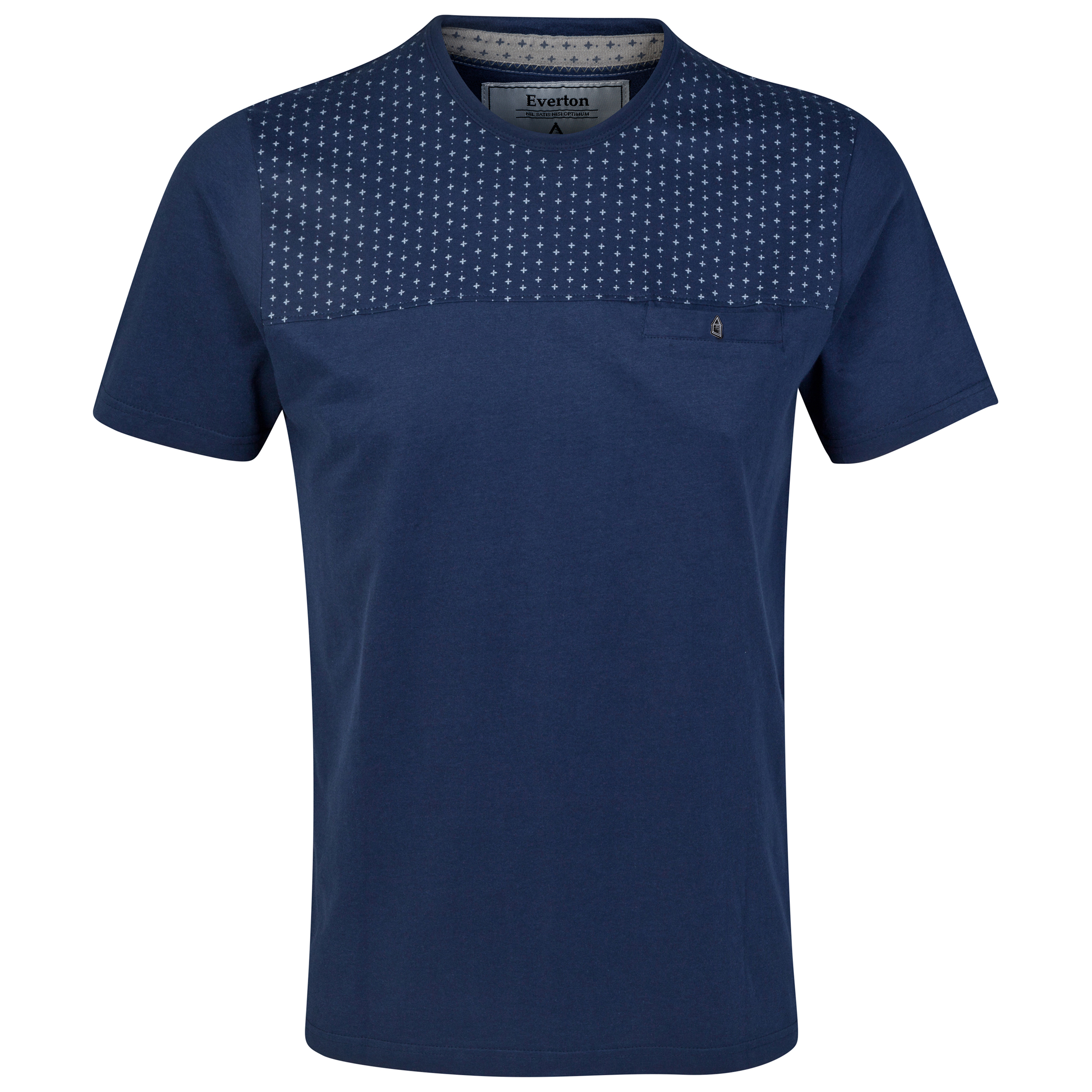 Everton Panel T-Shirt - Navy - Mens