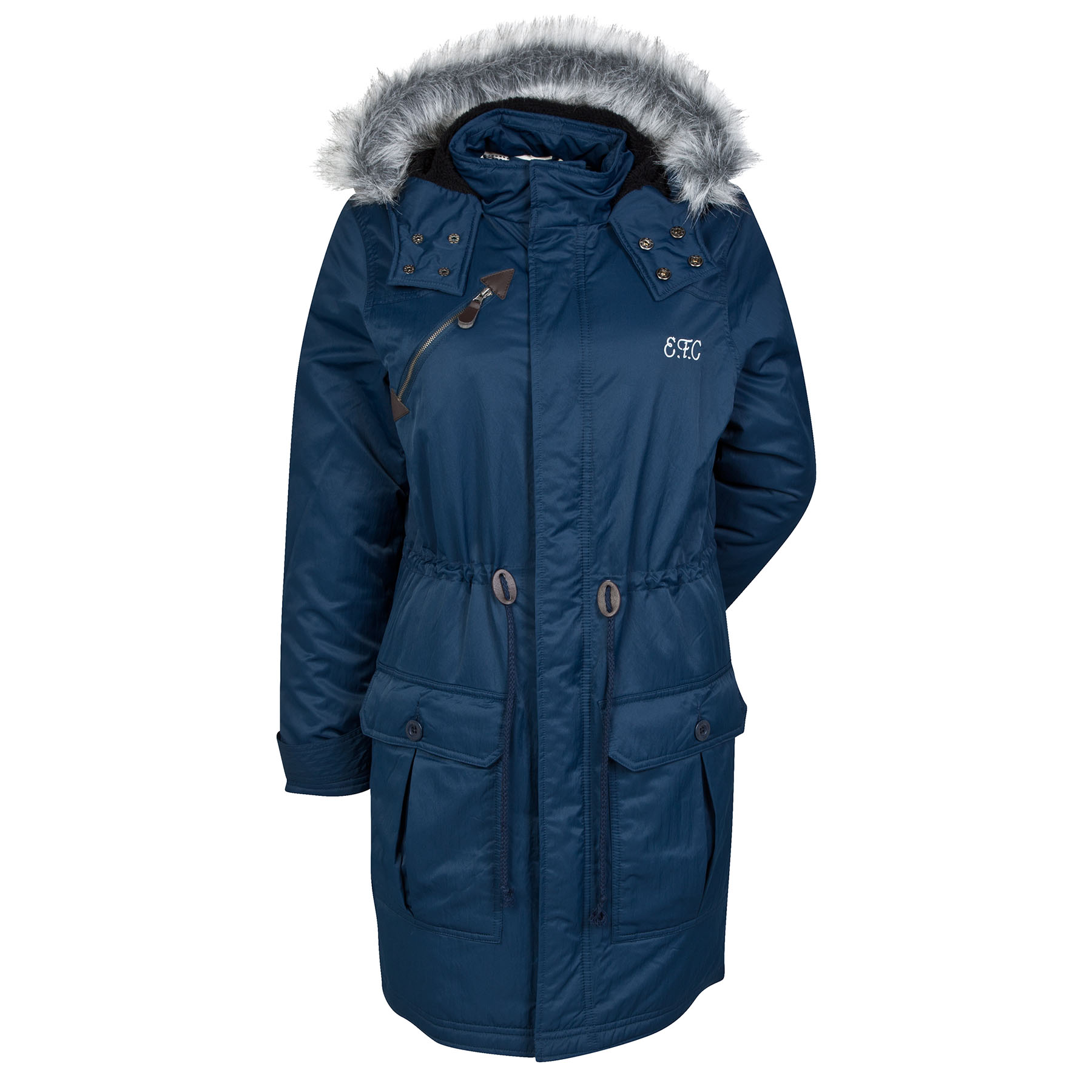 Everton Parka Coat - Navy - Womens