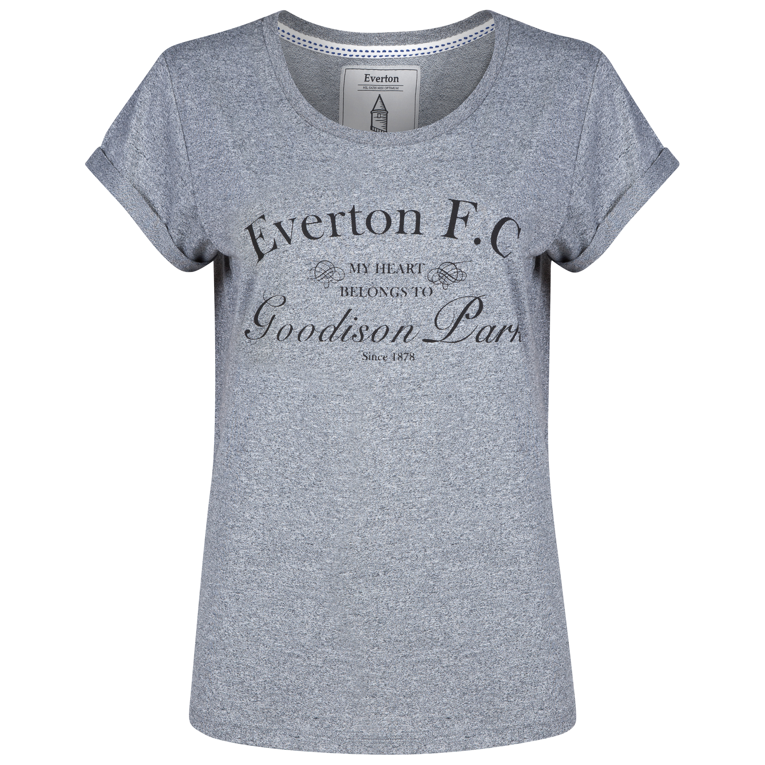 Everton T-Shirt - Grey Marl - Womens