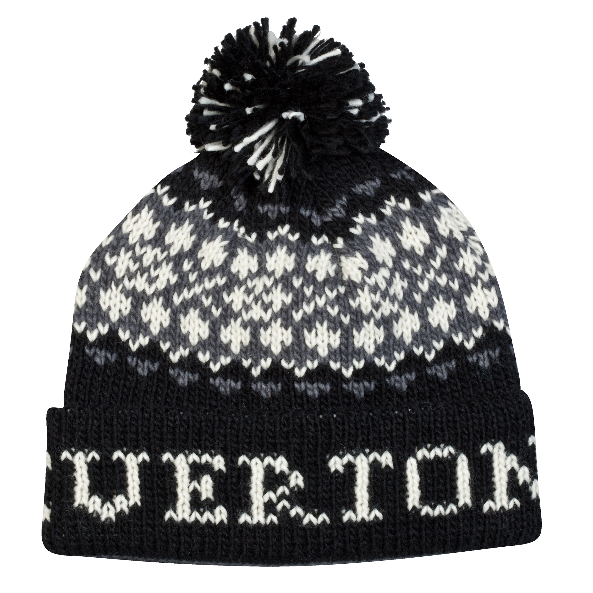 Everton Bobble Hat - Black/Grey/Ecru - Adult