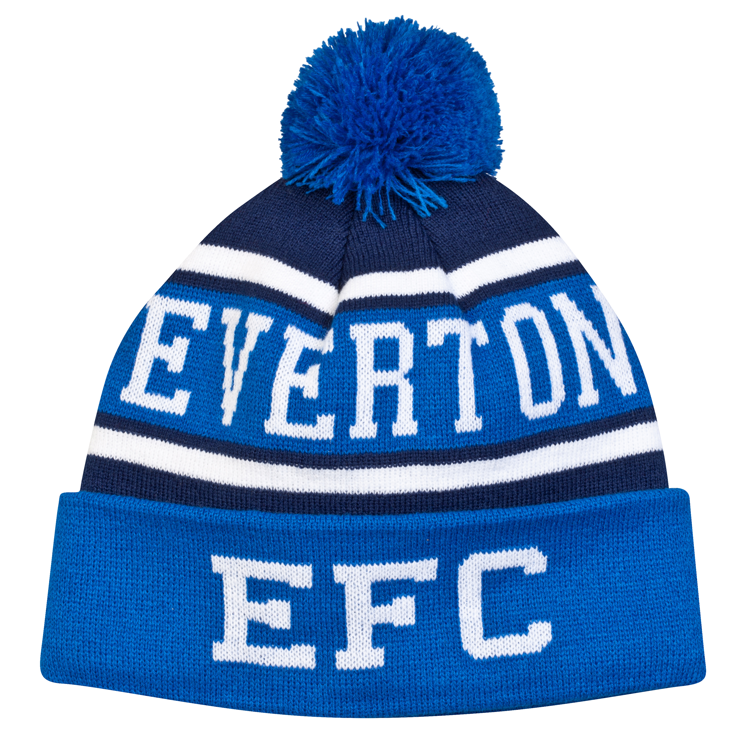 Everton Bobble Hat - Royal Blue/Navy - Adult