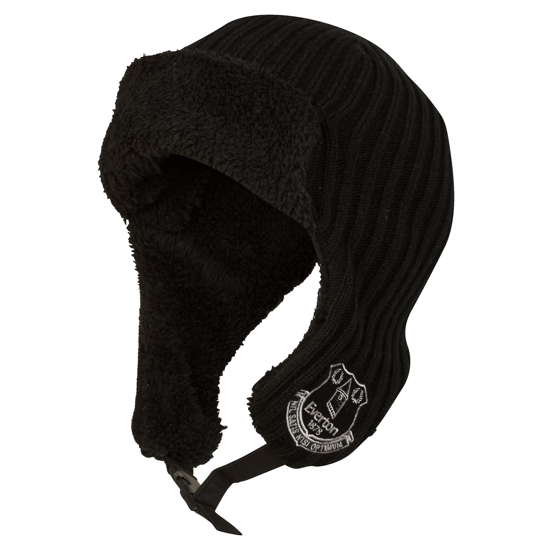 Everton Performance Trapper Hat - Black - Adult